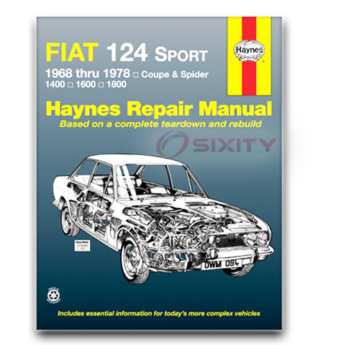 Haynes Repair Manual for Fiat 124 Base Spider Shop Service Garage Book yi