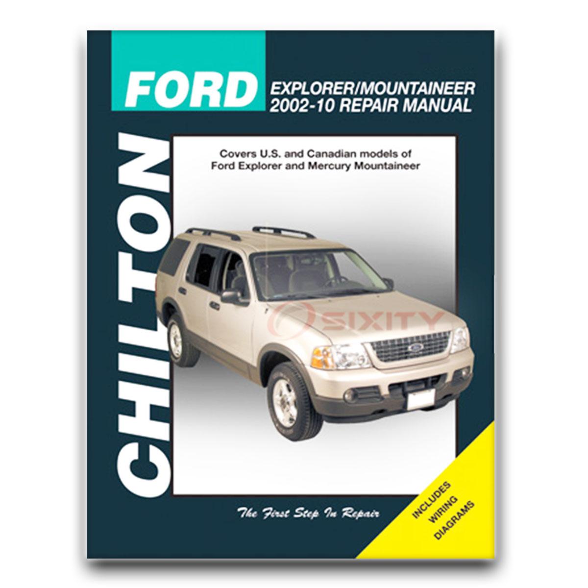 Chilton Repair Manual for Ford Explorer Sport XLT Postal NBX XLS Eddie  Bauer zl