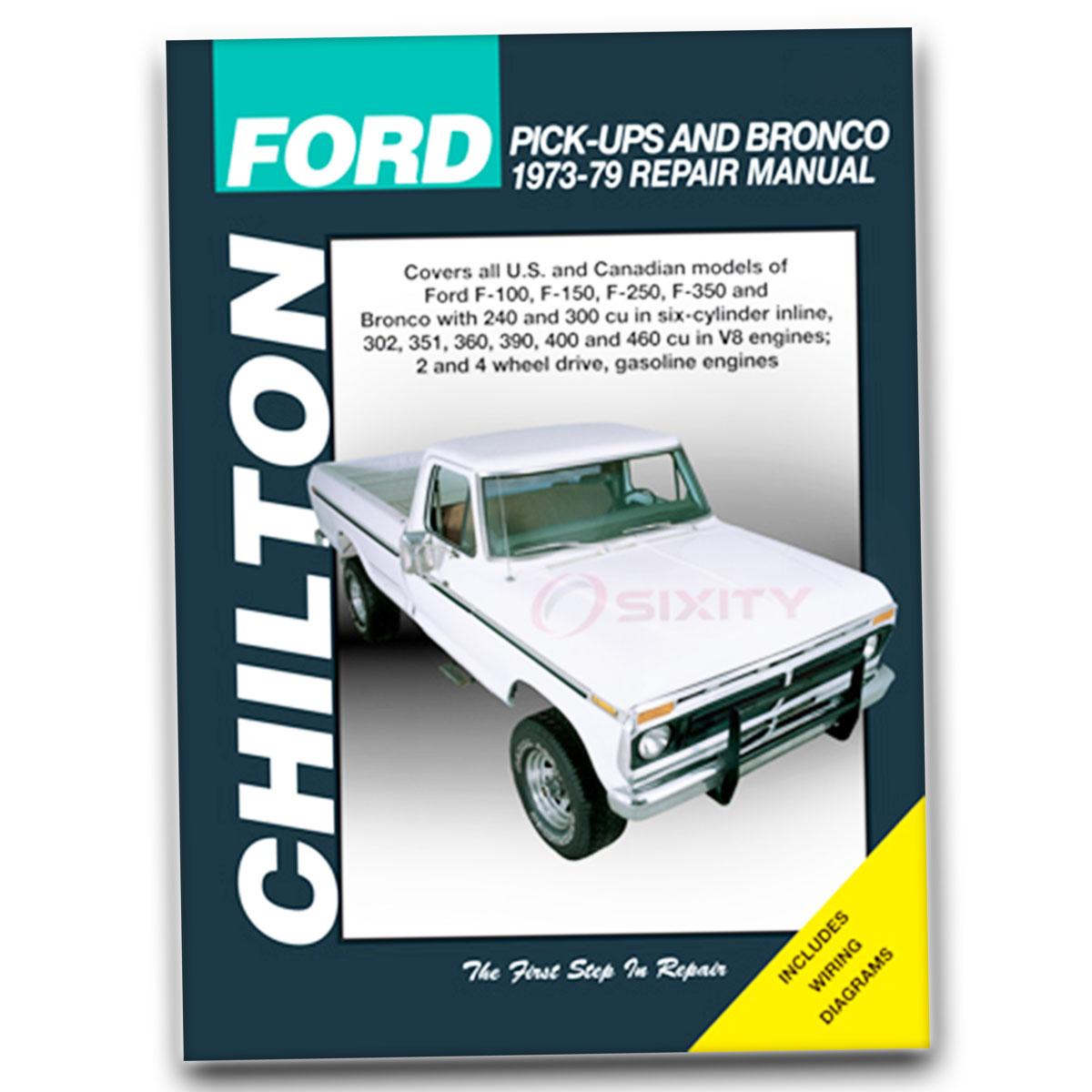 Ford F  Chilton Repair Manual Ranger Xl Xls Xlt Custom Base Lariat Eo