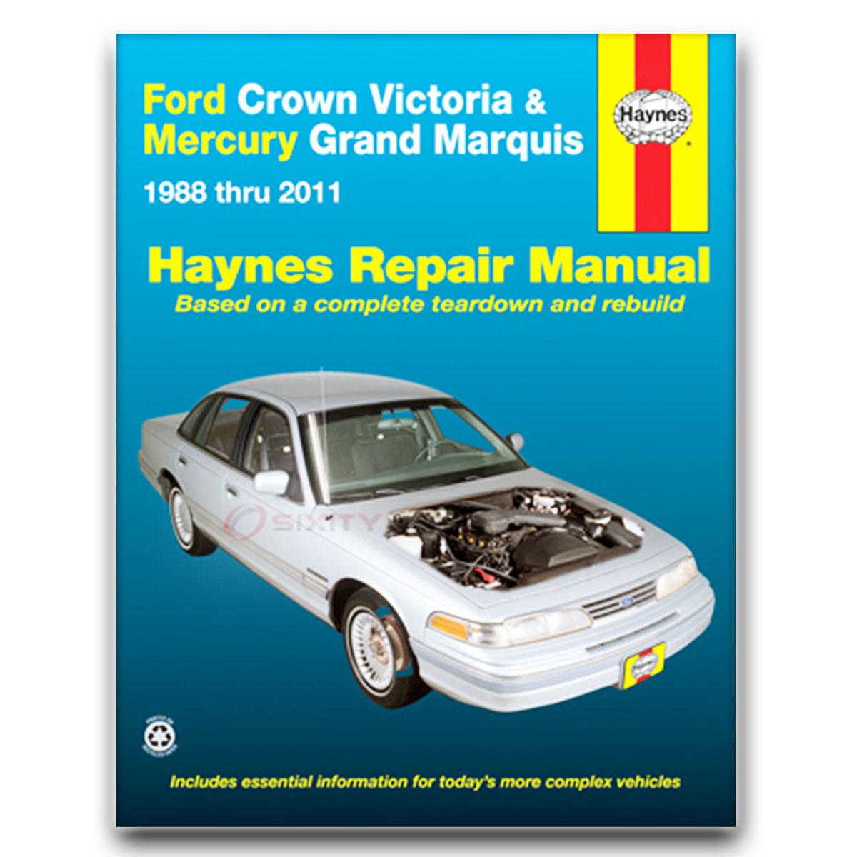 Haynes Repair Manual for Ford Crown Victoria Special Edition Base LX Sport  ke