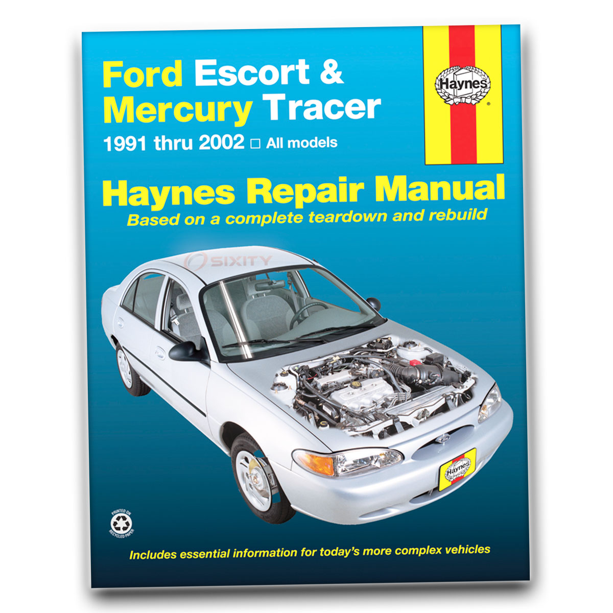 ford escort haynes repair manual lx sport gt zx2 s r hot coupe lx e rh ebay com Online Repair Manuals how to get free car repair manuals online