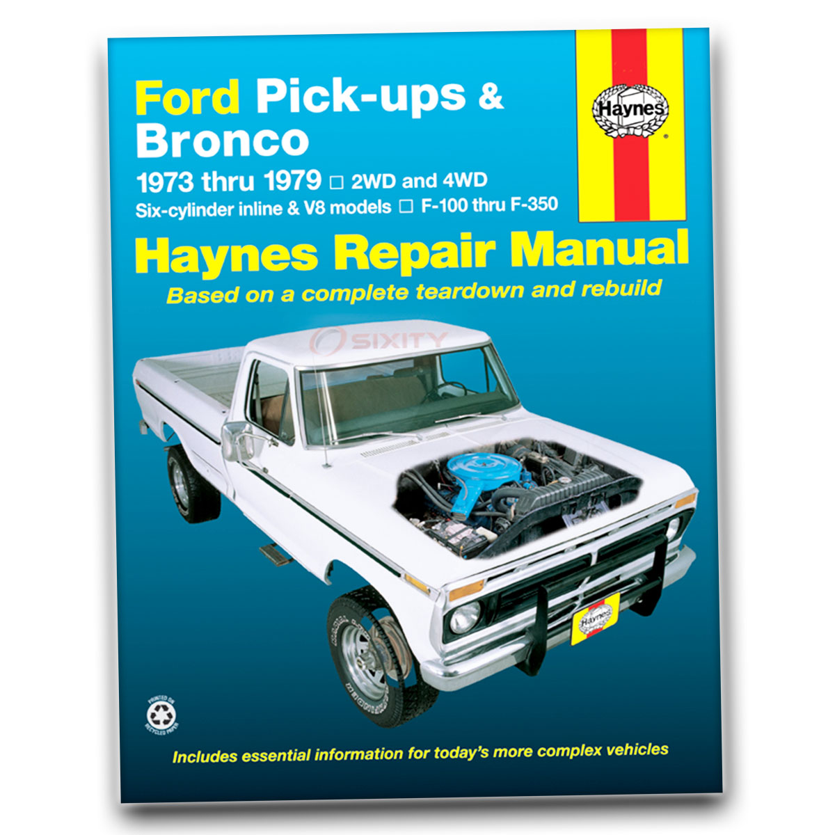 Ford F-150 Haynes Repair Manual Custom Ranger Lariat Northland XLT ...