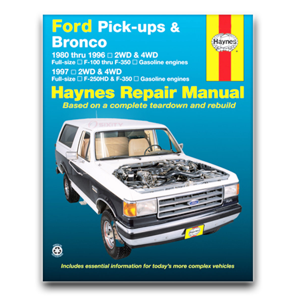 Haynes Repair Manual for Ford F-150 Ranger Lariat XLT XLS Custom Base st