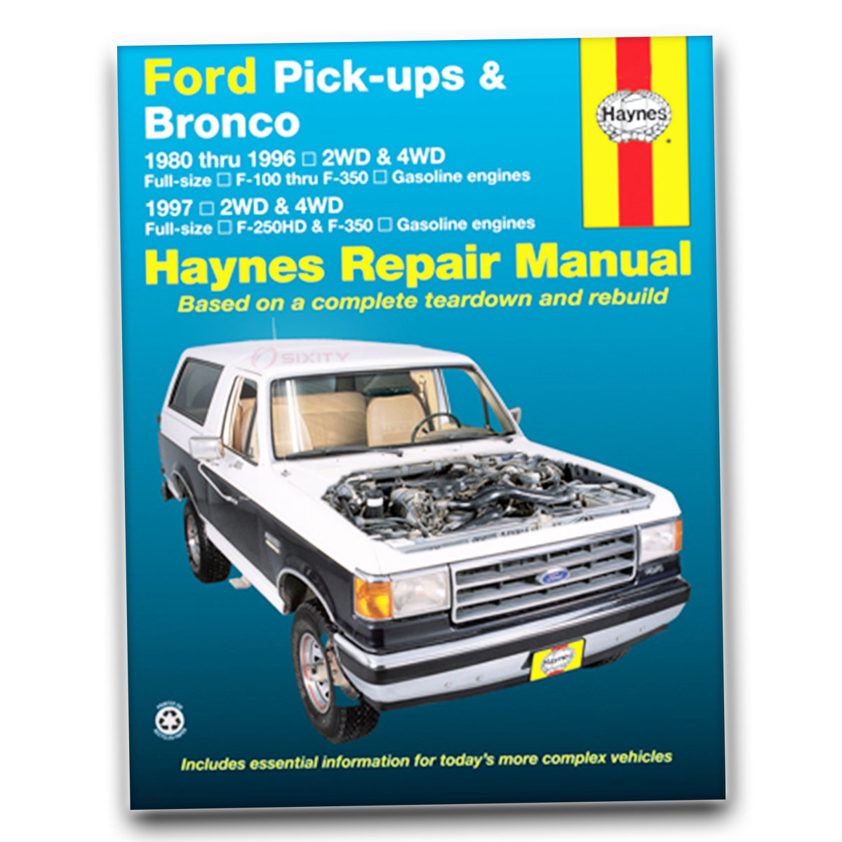 Ford F-250 Haynes Repair Manual Custom Base Special Eddie Bauer XLS XLT qw