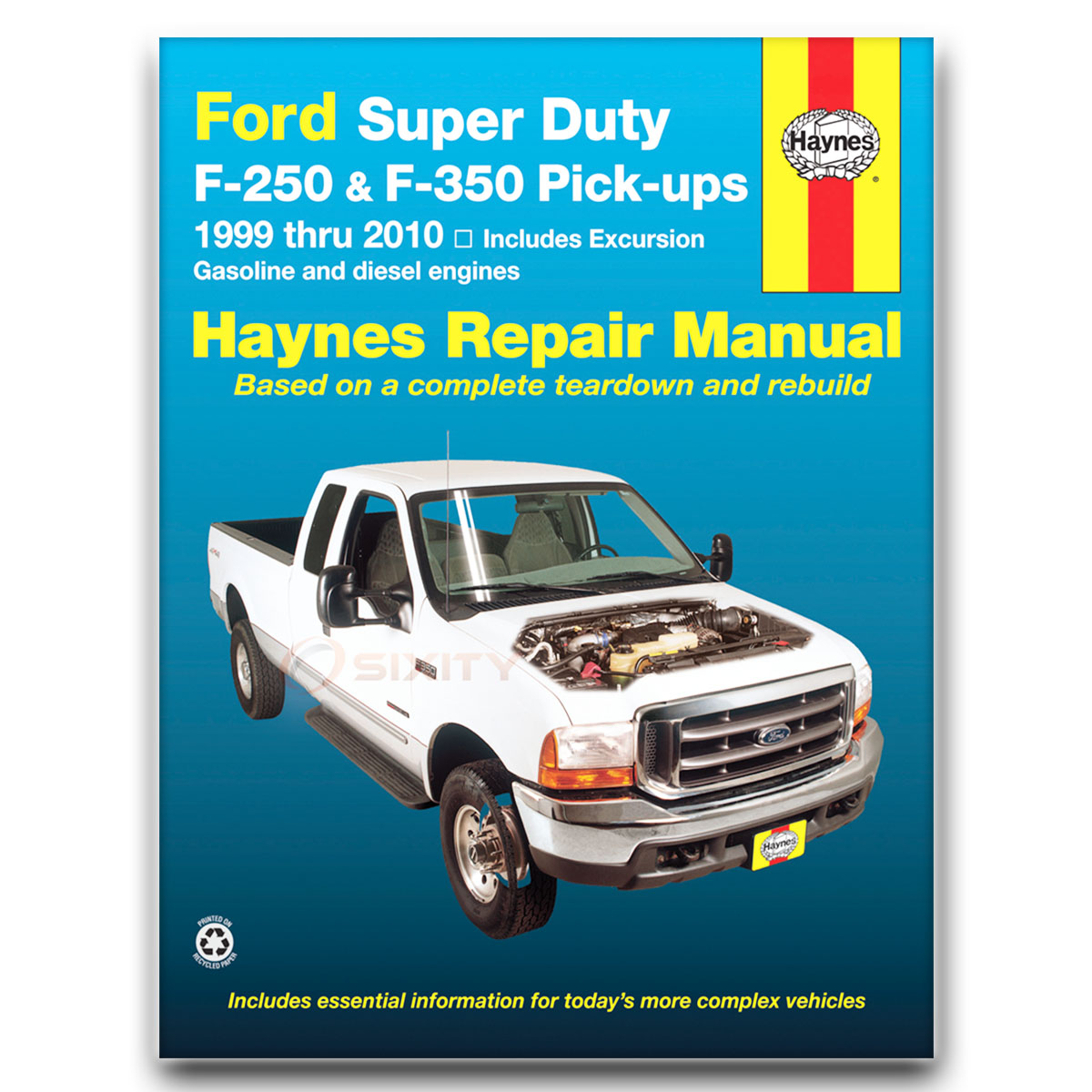 Haynes Repair Manual for Ford F-250 Super Duty Lariat XL FX4 XLT Cabela's vg