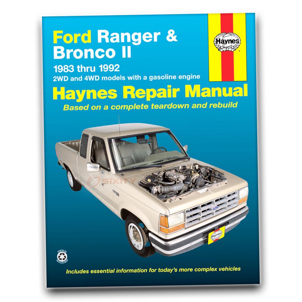 Haynes Repair Manual for Ford Bronco II XLT Plus Base Eddie Bauer XLS Sport  gq