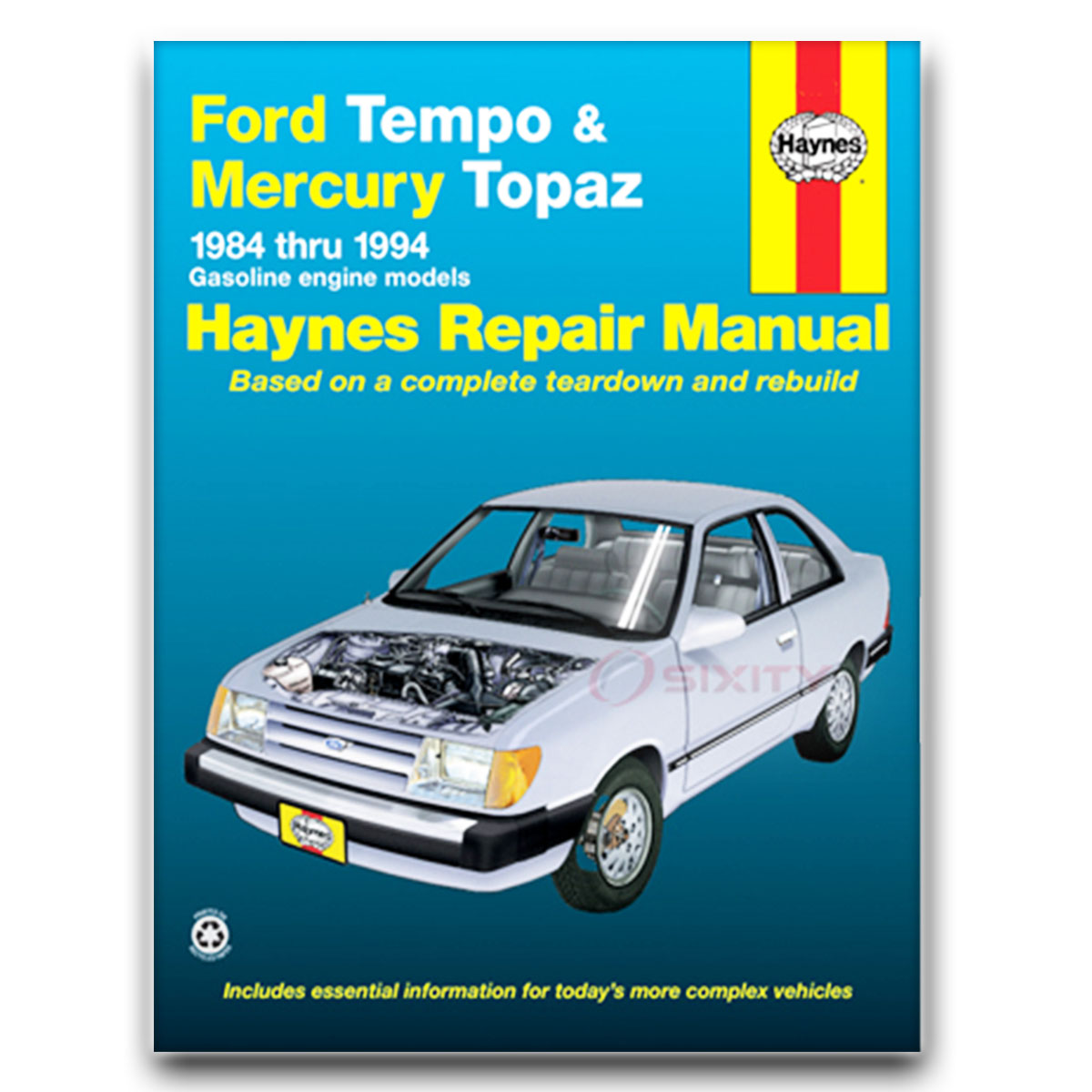 Ford Tempo Haynes Repair Manual AWD L Sport LX GLX Base GLS Shop Service hj