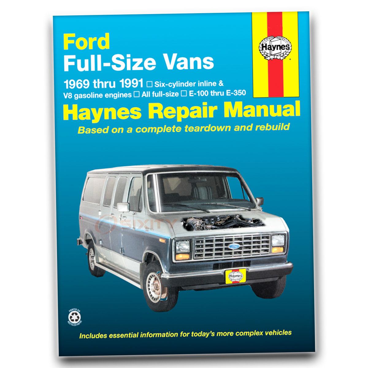 Haynes Repair Manual for Ford E-350 Econoline Club Wagon XLT Custom Base uh