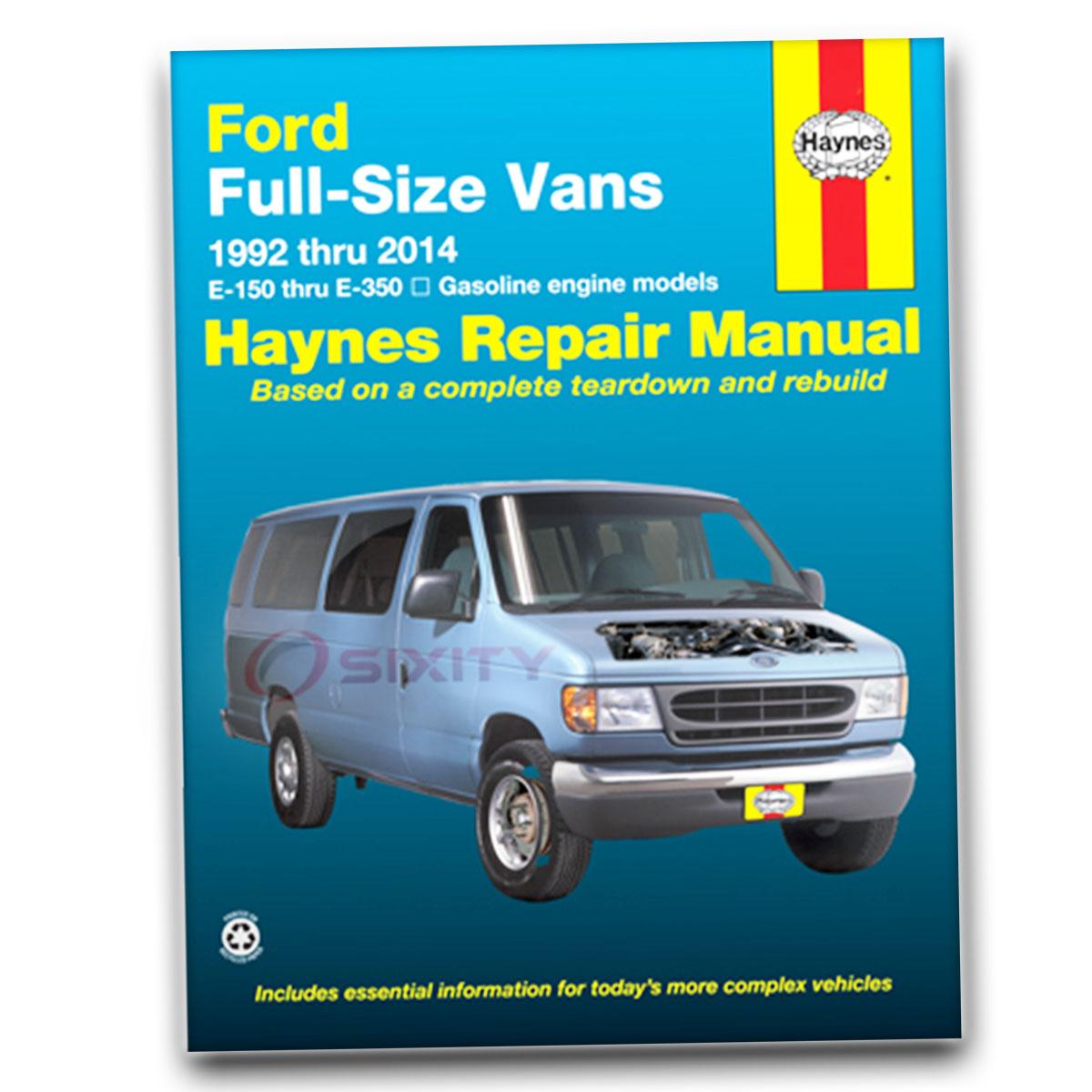 Ford e 350 econoline club wagon haynes repair manual xlt custom hd chateau ge