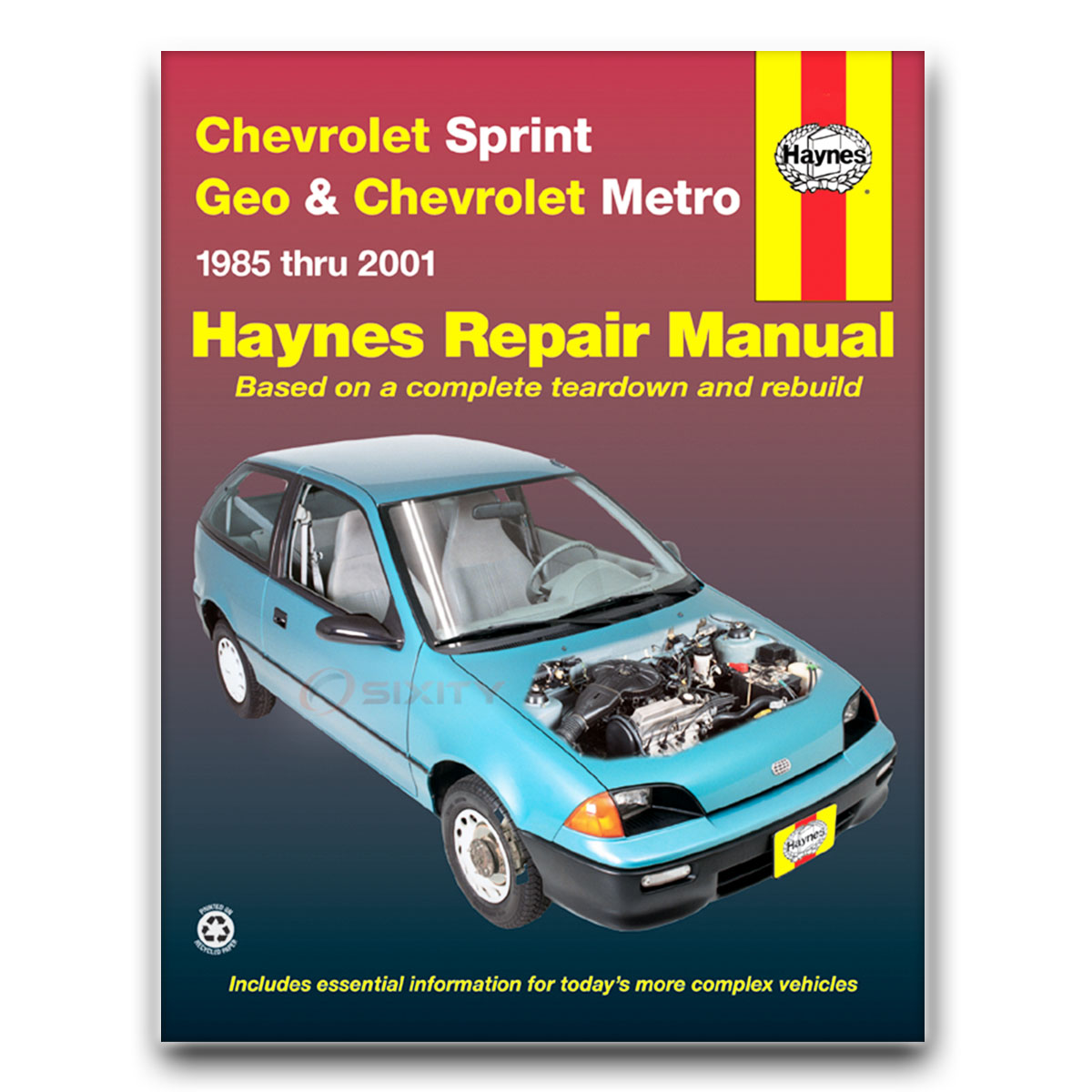 Haynes Repair Manual for Geo Metro Base XFi LSi Shop Service Garage Book xx