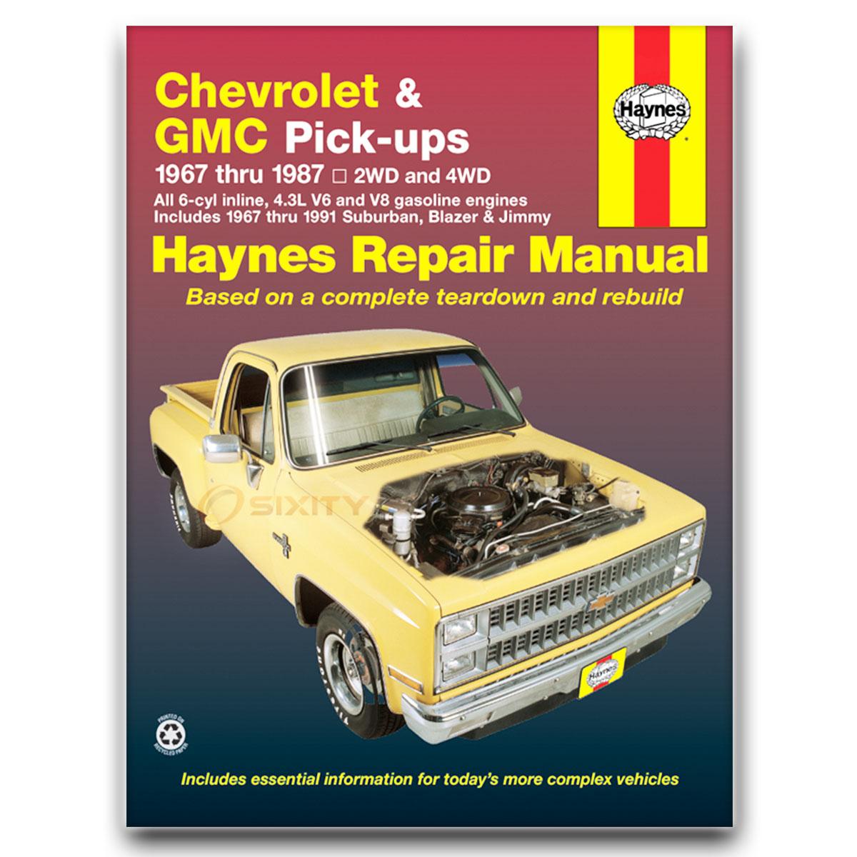 Gmc c25 c2500 pickup haynes repair manual base shop service garage book xz