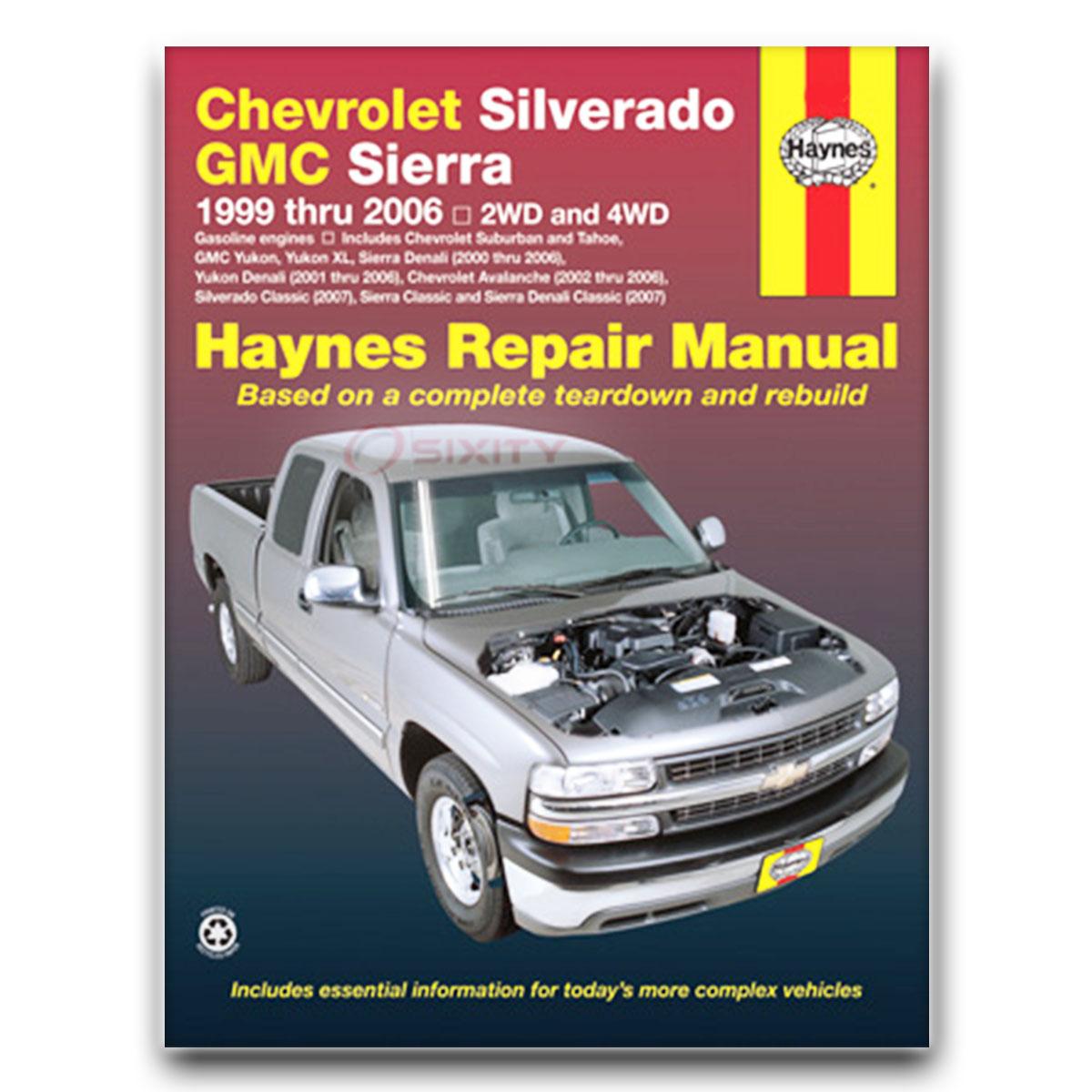 gmc sierra 3500 haynes repair manual wt slt classic sle base shop rh ebay com 2007 GMC Yukon XL 2500 2004 GMC Yukon XL 2500