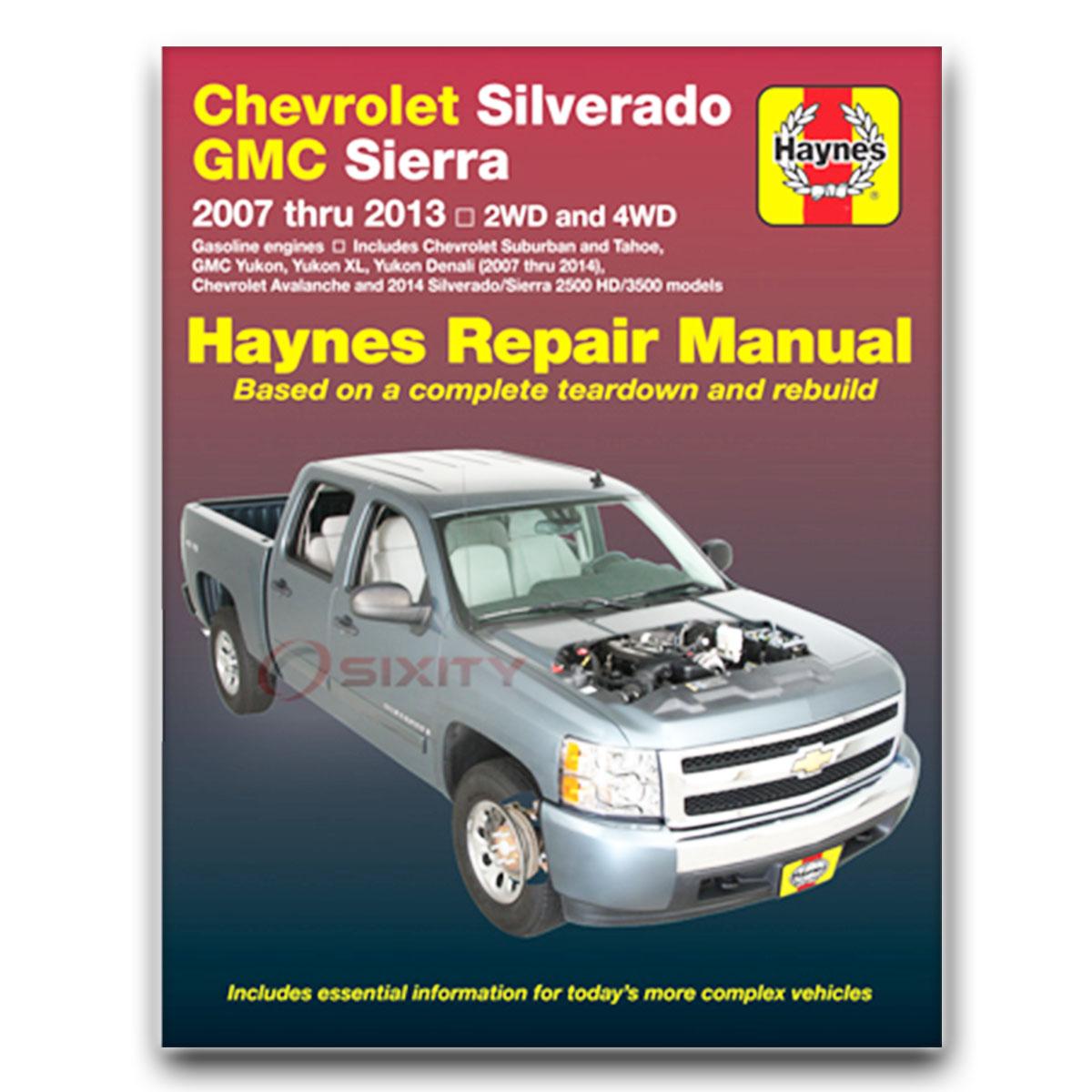 Haynes Manual De Reparación Para Gmc Yukon Xl 1500 Sle Denali Slt