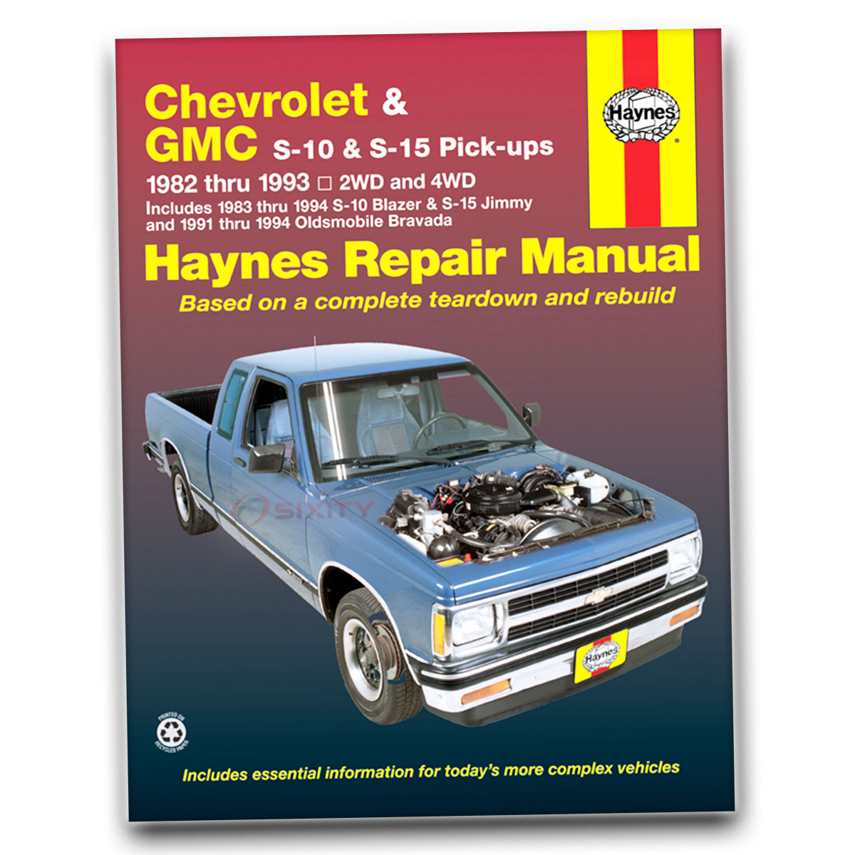 Haynes Repair Manual for GMC S15 Jimmy Sierra Classic SLE SLS High SLT gu