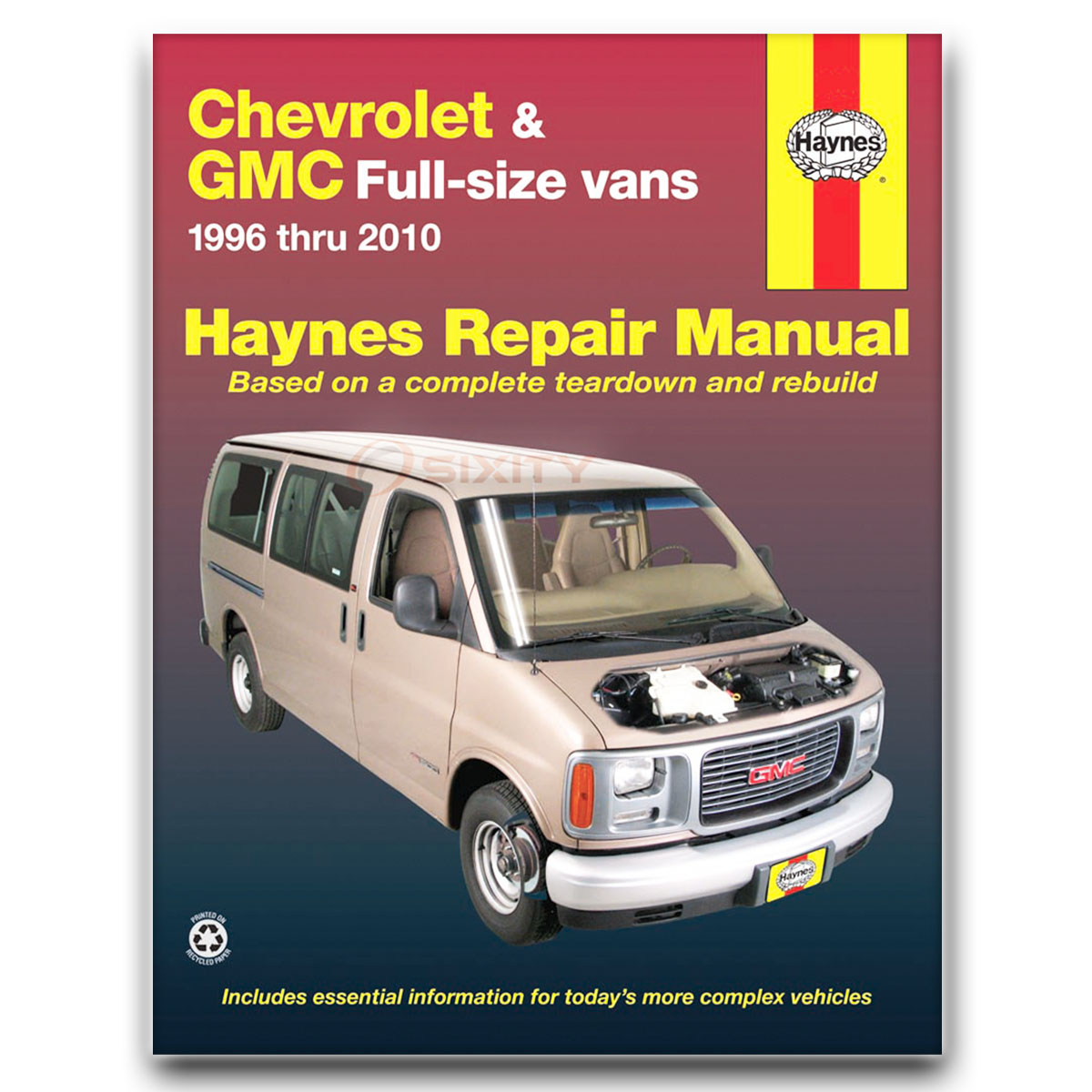 gmc savana 2500 haynes repair manual ls lt base sle slt shop service rh ebay com GMC Savana Passenger Van 2006 gmc savana service manual