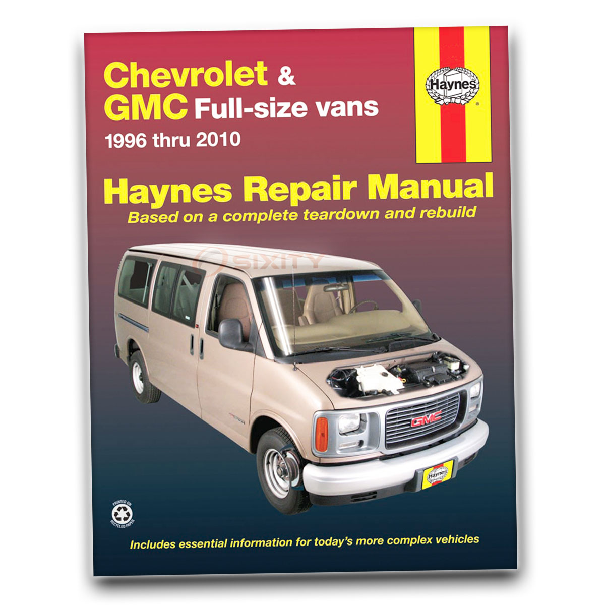 GMC Savana 3500 Haynes Repair Manual SLT SLE Base LS Shop Service Garage  Boo uf