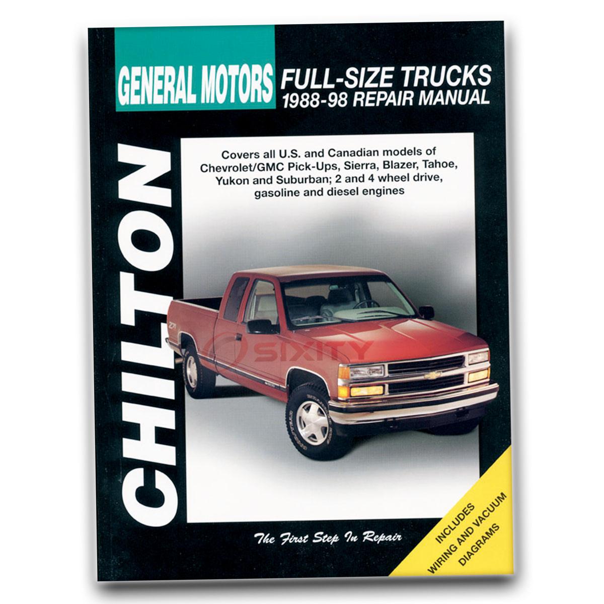 Chilton Repair Manual for GMC K1500 Sierra Special SLS SLT SLX SLE Sport xu