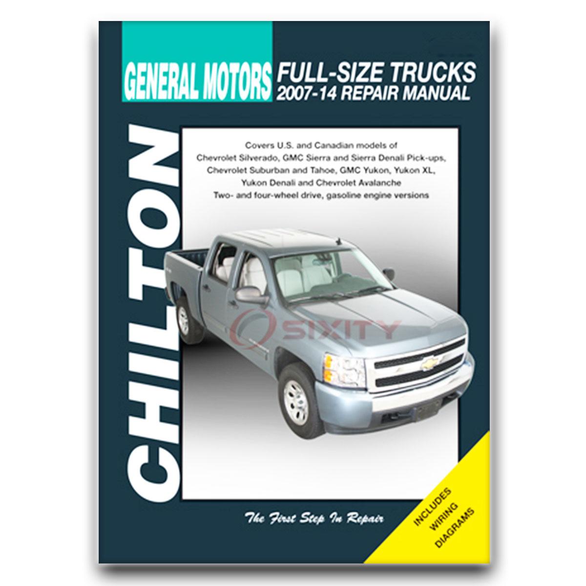 gmc yukon xl 1500 chilton repair manual denali sle slt shop service rh ebay com 2017 GMC Yukon Denali 2007 gmc yukon denali parts manual