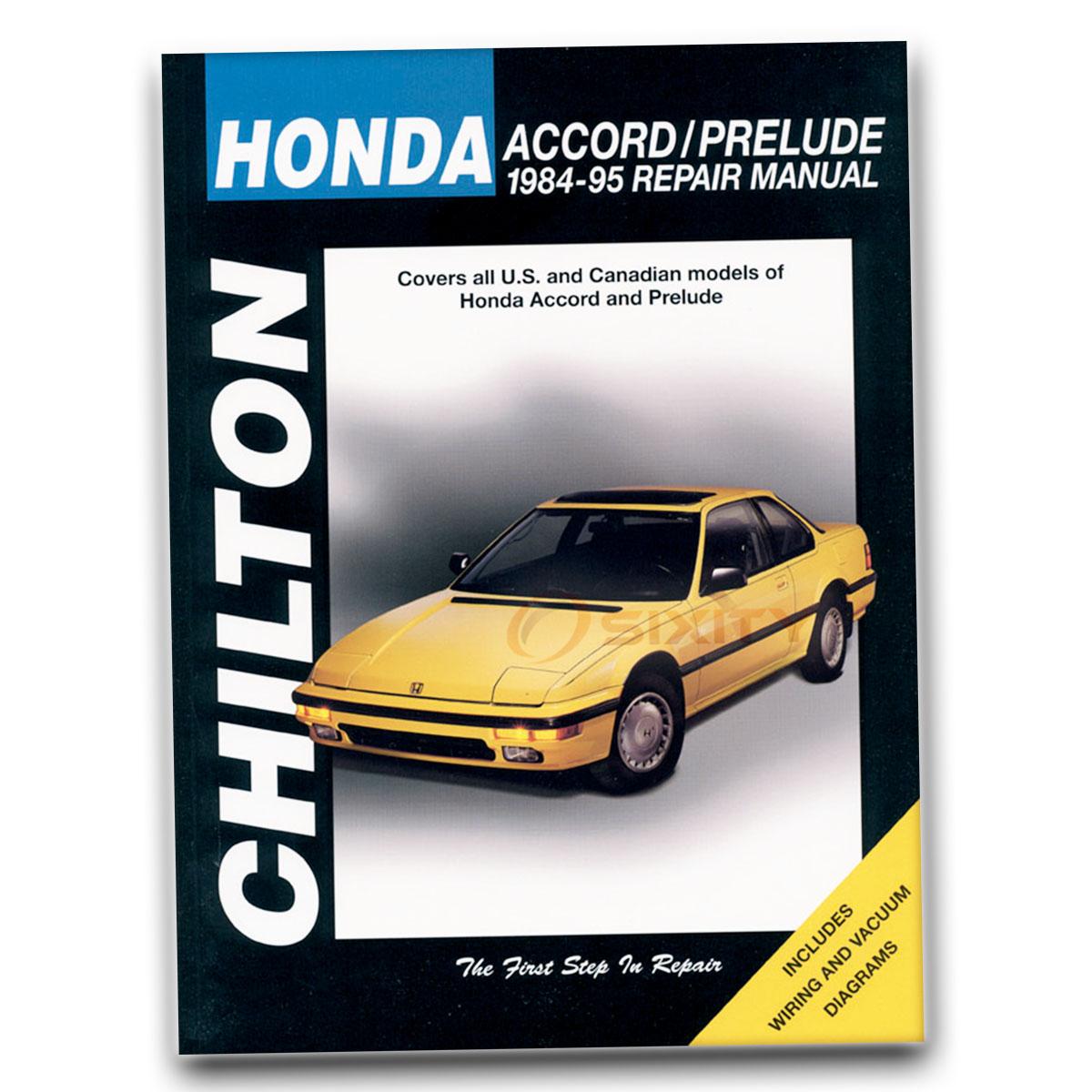 Chilton Repair Manual For Honda Prelude 20 Si Vtec 4ws Alb Base Se 1989 Wiring Diagram Shop Tr