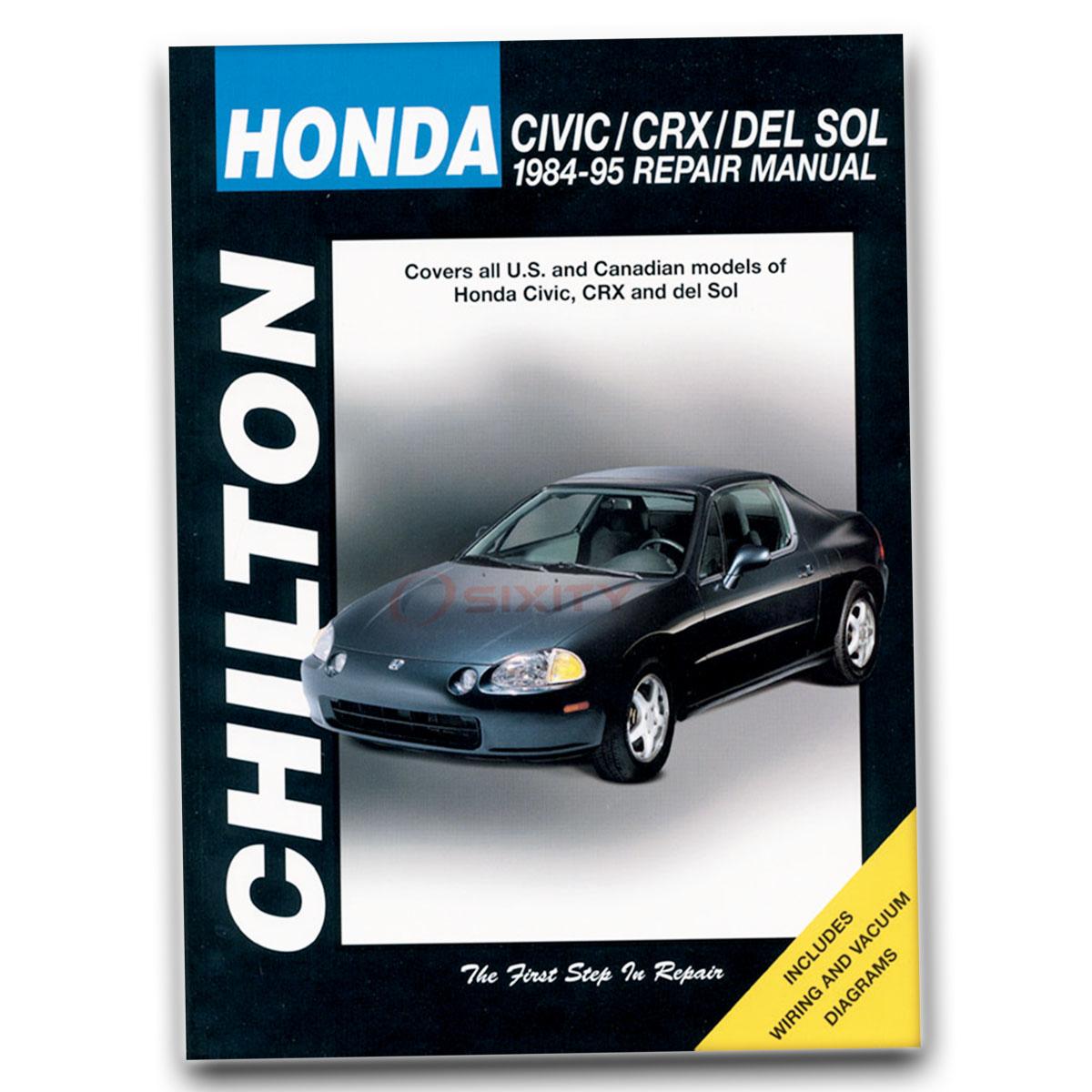 honda crx chilton repair manual base si hf shop service garage book rh ebay com 1985 Honda CRX Si 1985 Honda CRX Si