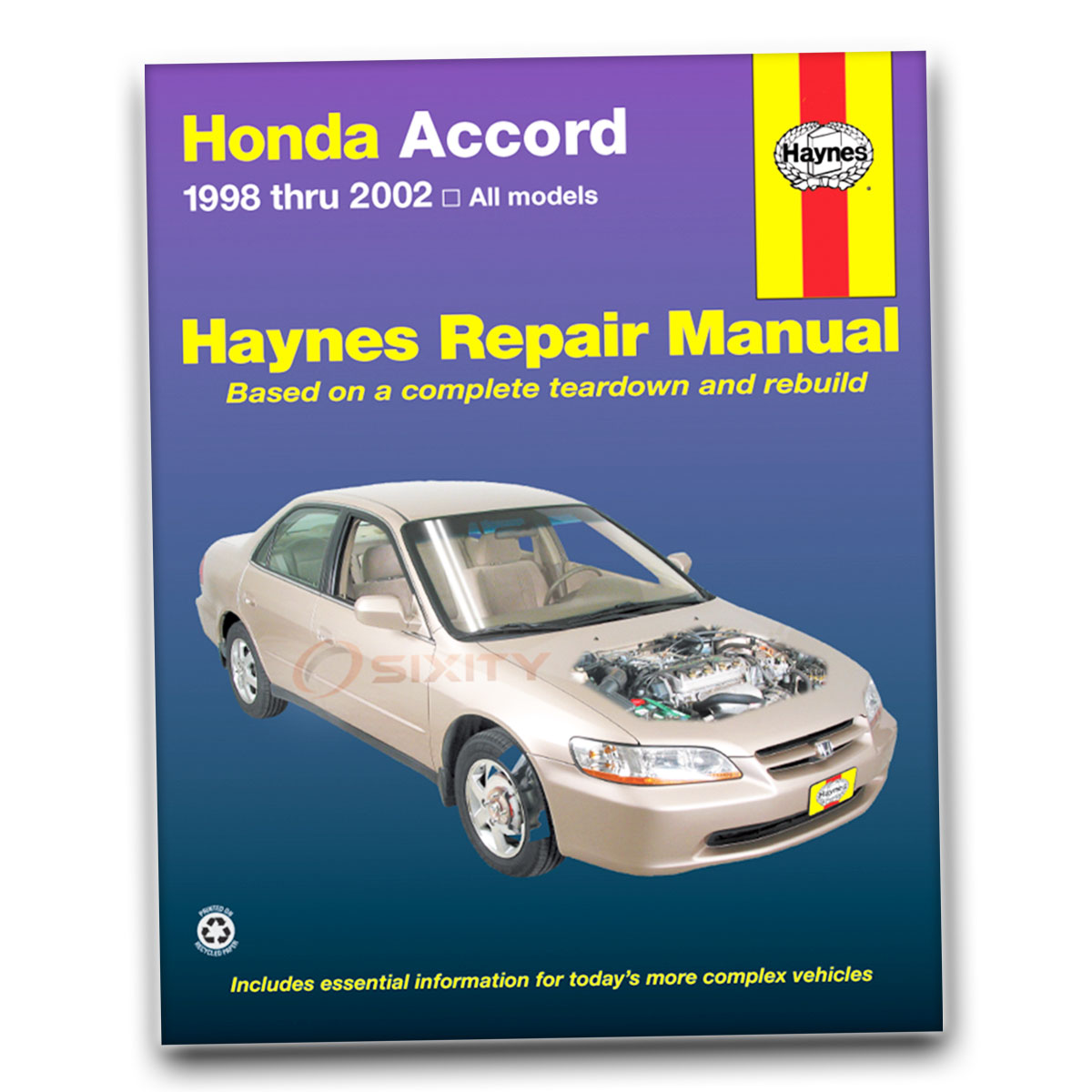 Haynes Repair Manual for Honda Accord SE LX EX Value Package DX Shop  Service jd