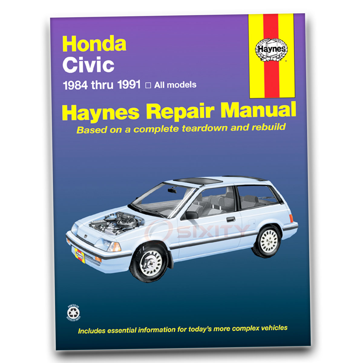 haynes repair manual for honda civic si wagovan base rt 4wd ex 1500 rh ebay  com 91 Honda Civic LX Sedan 91 Honda CRX Mugen Kit