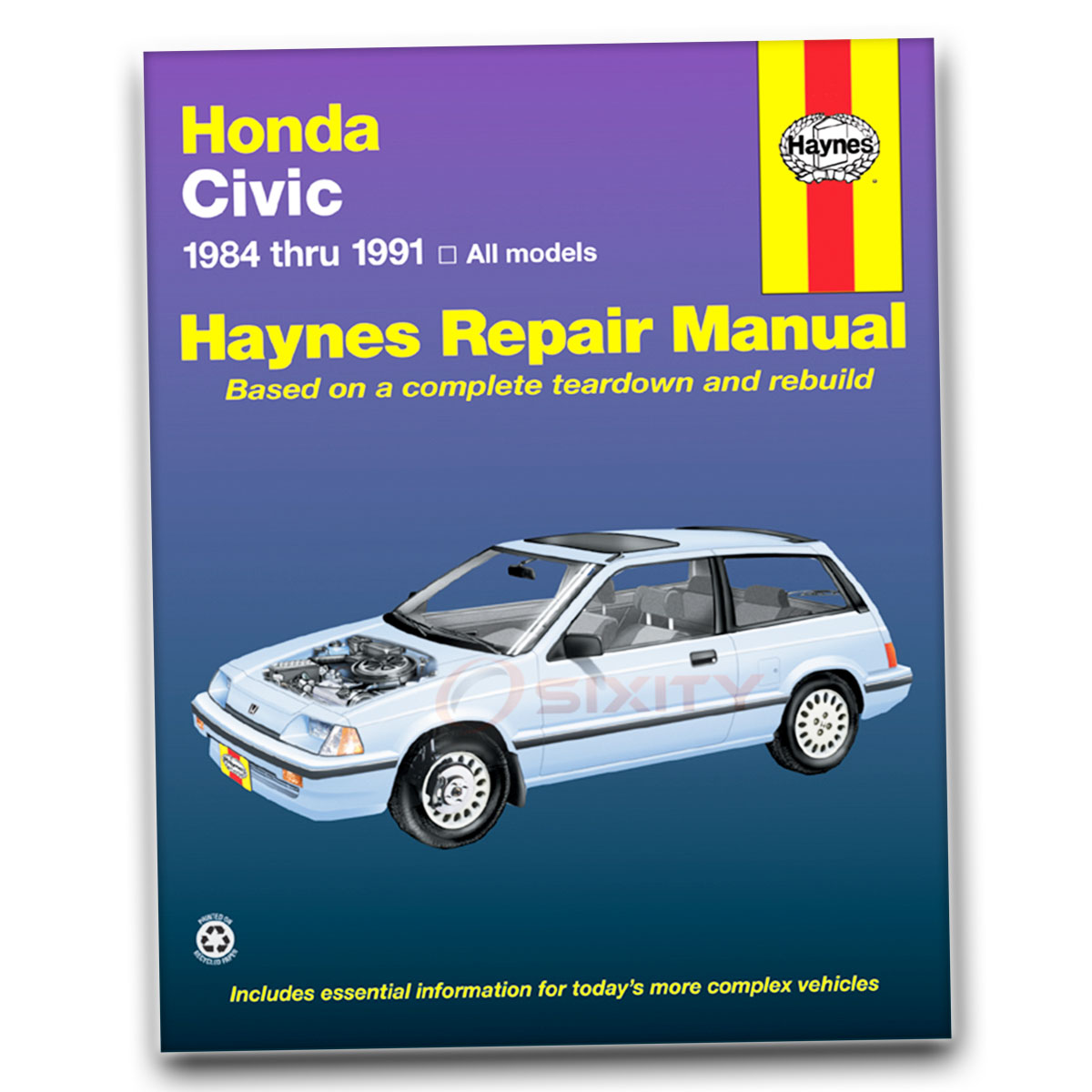 honda crx haynes repair manual base dx hf si shop service garage rh ebay com haynes manual honda jazz haynes manual honda civic