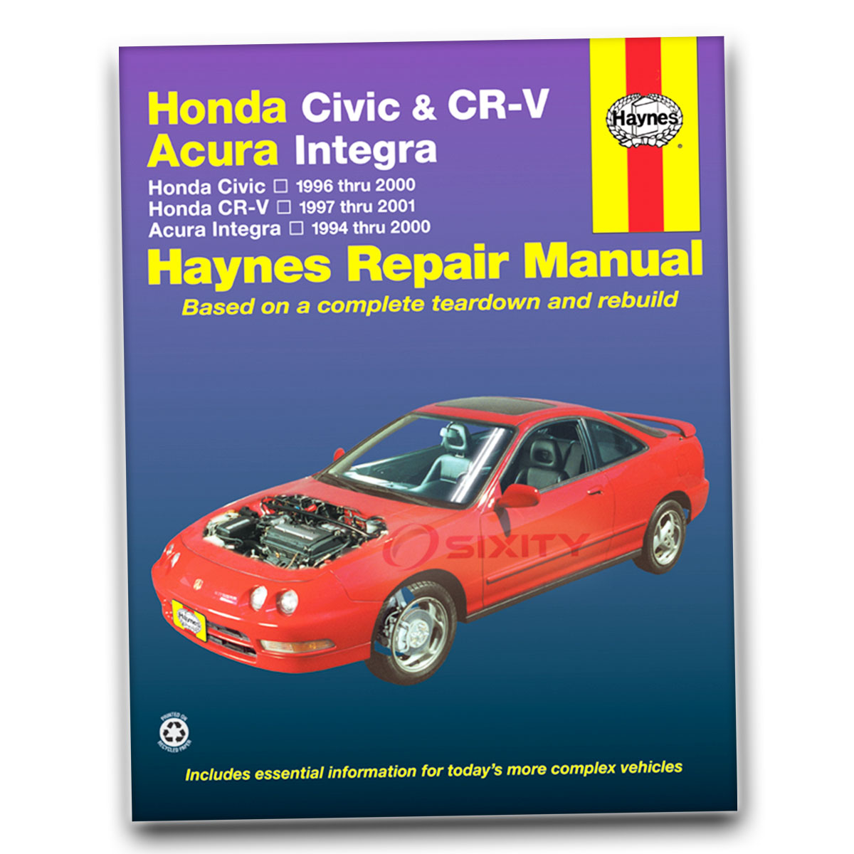Haynes Repair Manual for Honda Civic LX Si Value Package EX CX GX DX HX  Shop ol