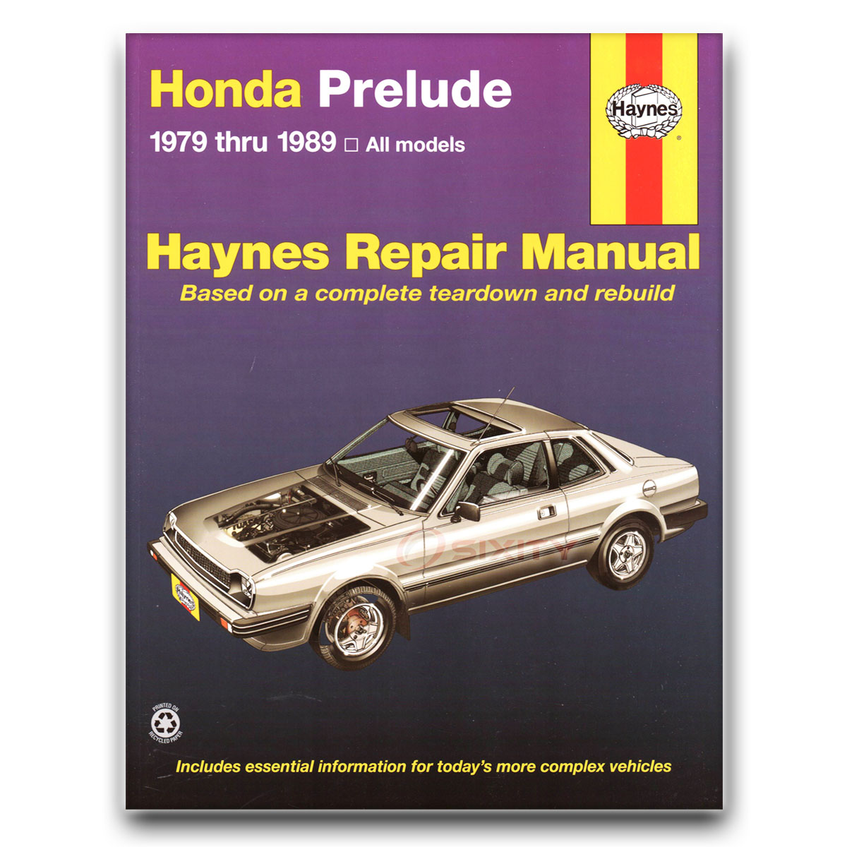 honda prelude haynes repair manual 2 0 si 4ws base shop service rh ebay com 89 honda prelude manual 1989 honda prelude manual swap
