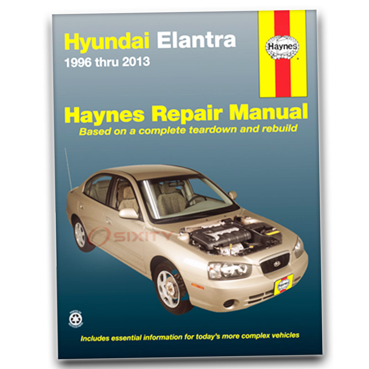 Haynes Repair Manual for Hyundai Elantra GLS GT Limited Blue Touring SE  Base mj