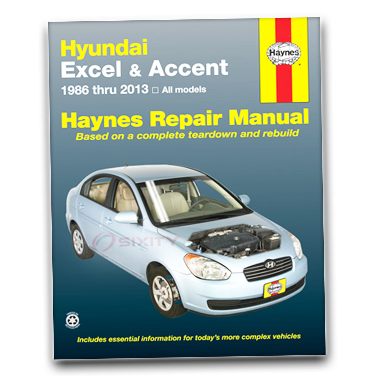 for hyundai accent haynes repair manual base se gls gsi shop service rh ebay com Haynes Repair Manuals Online Haynes Repair Manual 1991 Honda Civic