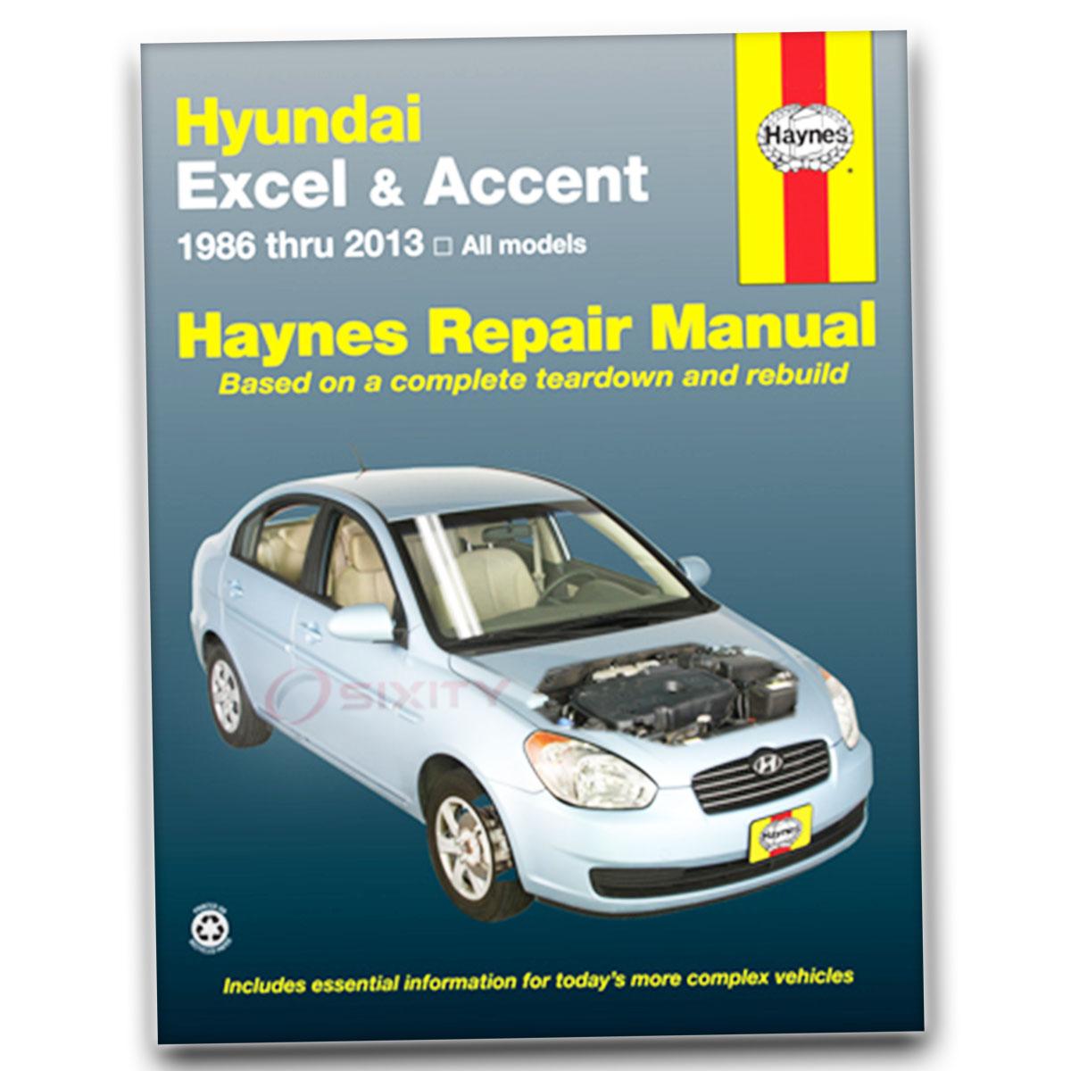 Hyundai Accent 1995-2013 Haynes USA Workshop Manual