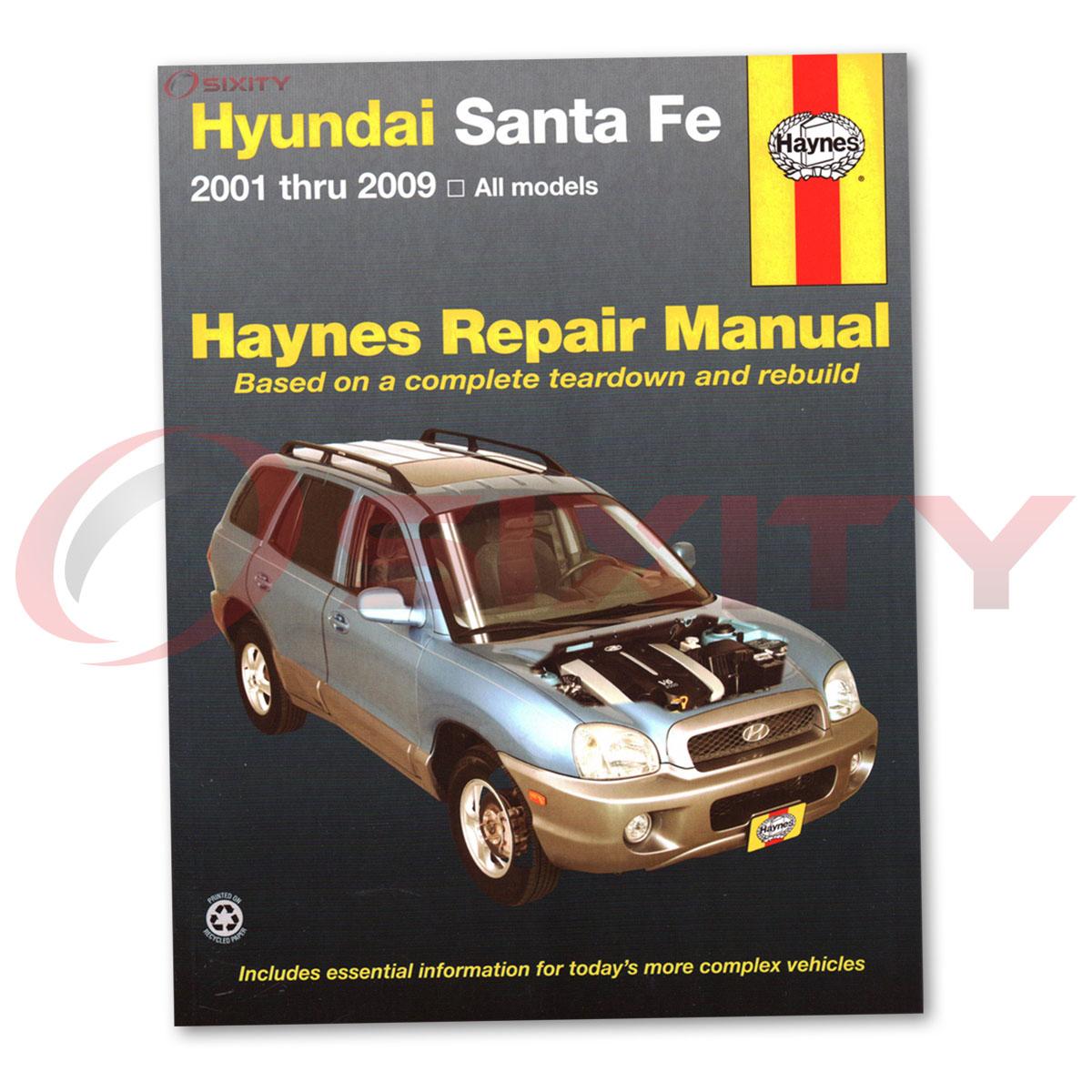 For Hyundai Santa Fe Haynes Repair Manual Gls Lx Base