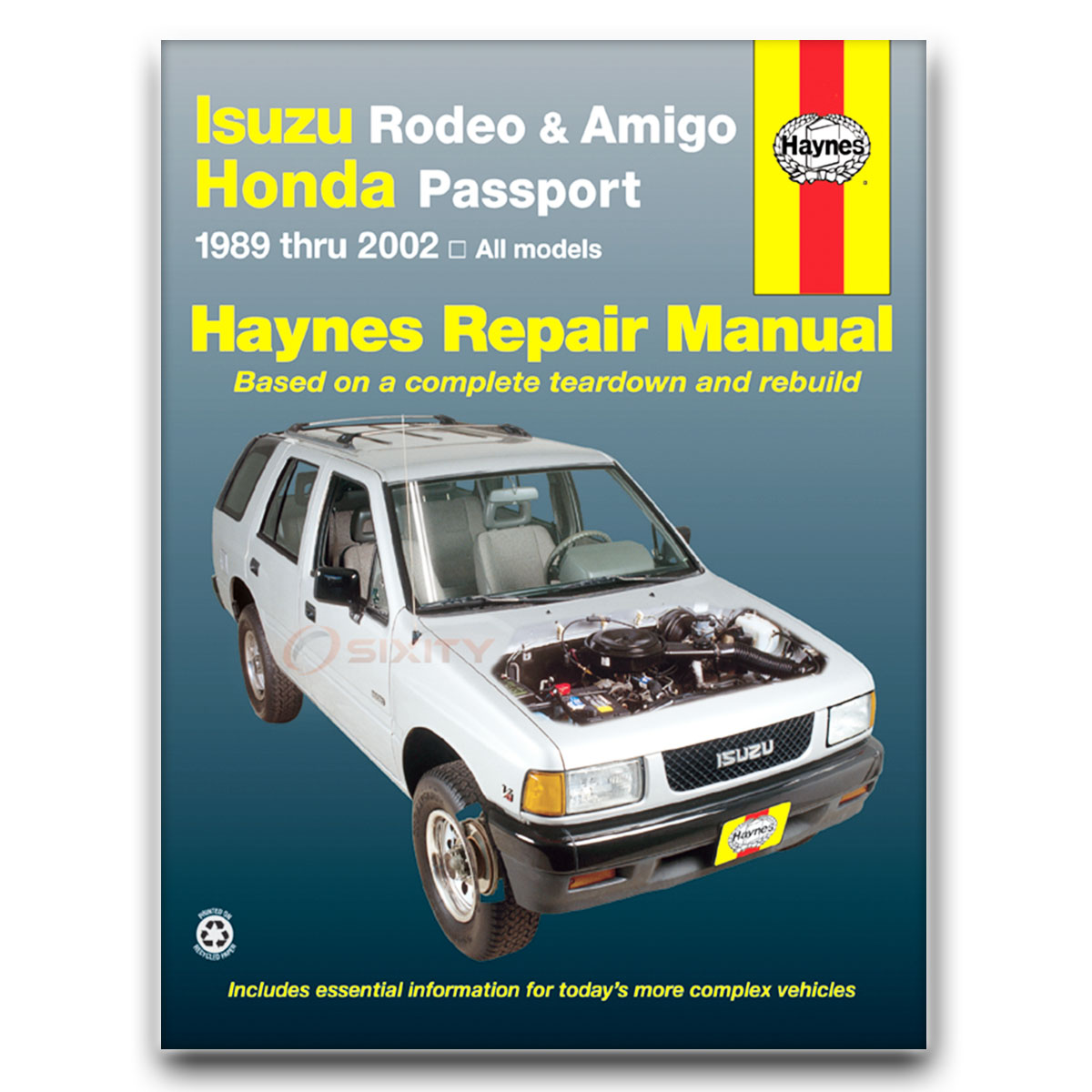 isuzu rodeo haynes repair manual s v6 ls lse xs shop service garage rh ebay com 1998 isuzu amigo repair manual 1998 holden rodeo service manual