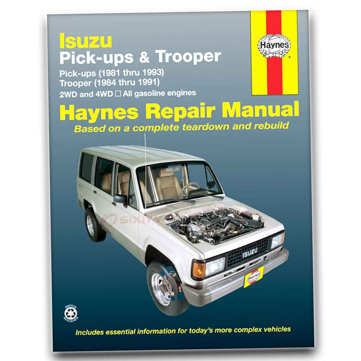 Haynes Repair Manual for Isuzu Trooper LX SE DLX LS Base RS XS Shop Service  ag