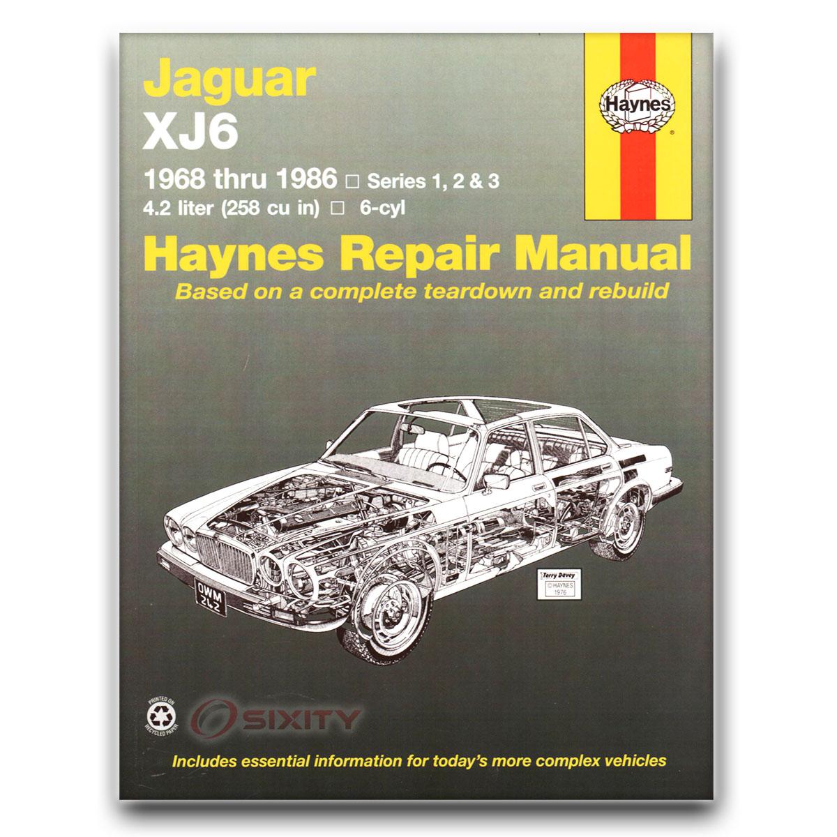 jaguar xj6 haynes repair manual l base c shop service. Black Bedroom Furniture Sets. Home Design Ideas