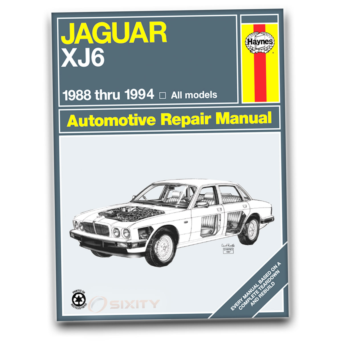 jaguar xj6 haynes repair manual sovereign base shop service garage rh ebay com 2004 Jaguar XJ6 1994 jaguar xj6 repair manual