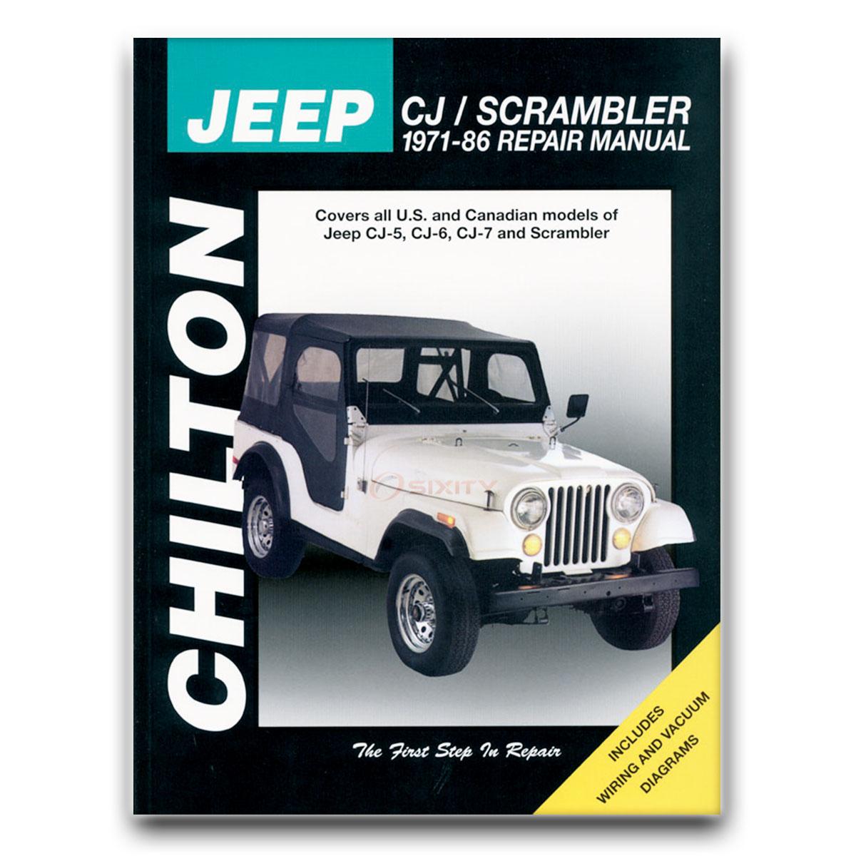 Chilton Repair Manual for Jeep CJ7 Base Golden Eagle Hawk Renegade Laredo td