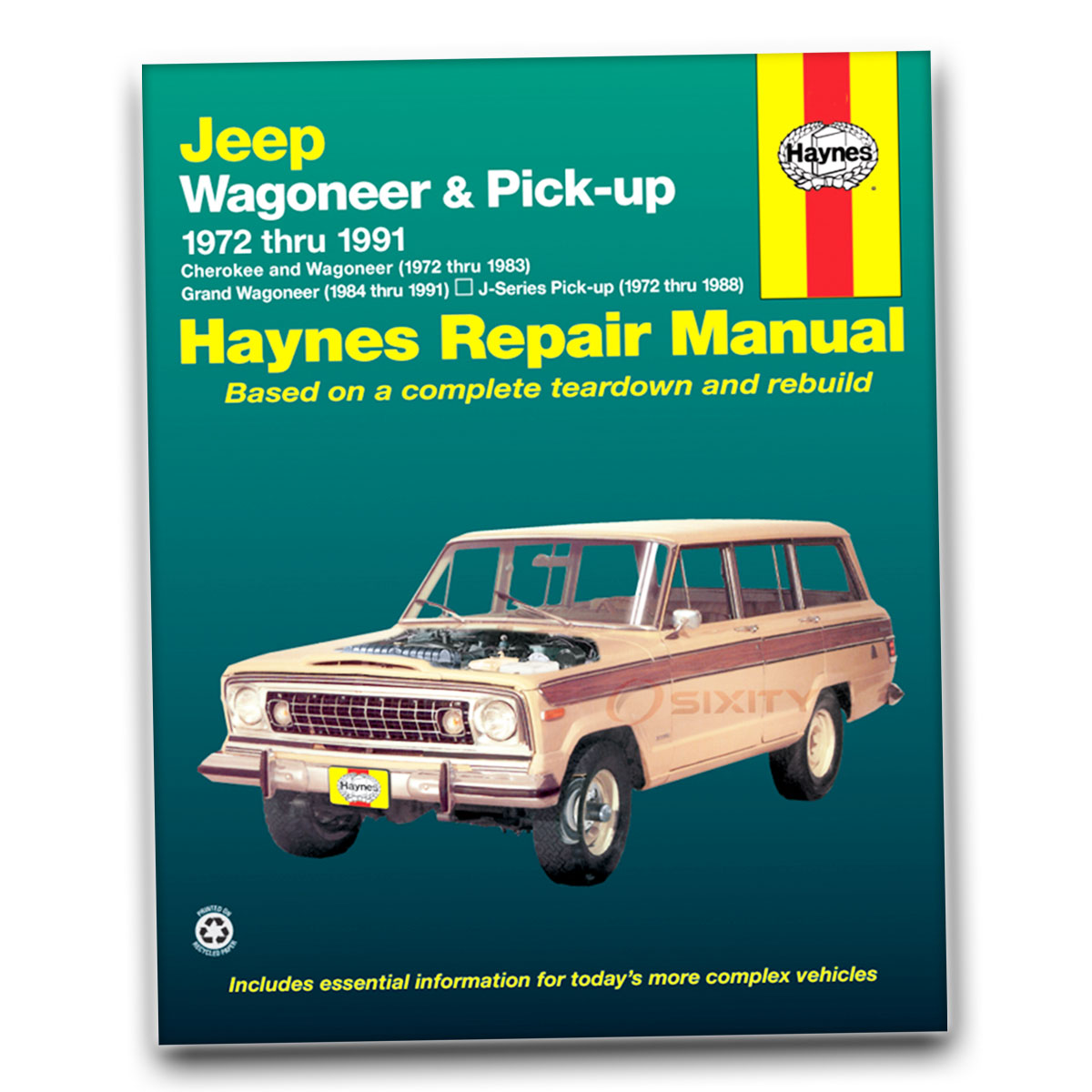Haynes Repair Manual for Jeep Cherokee Wide Track Chief S Base Pioneer Shop  hq