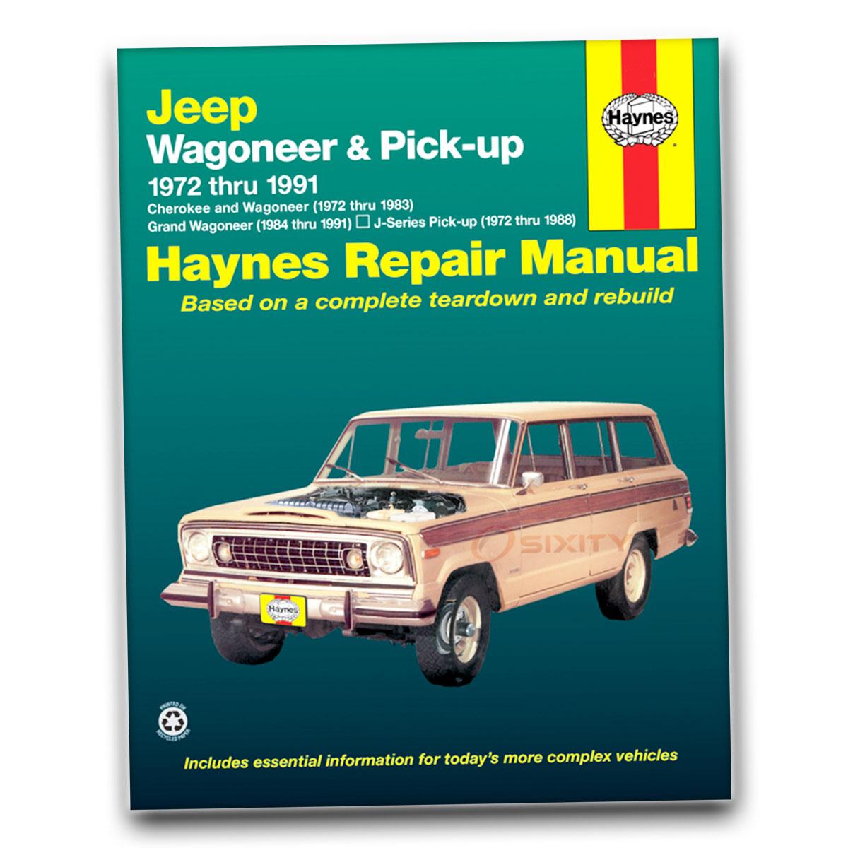 Haynes Repair Manual For 1974-1988 Jeep J10