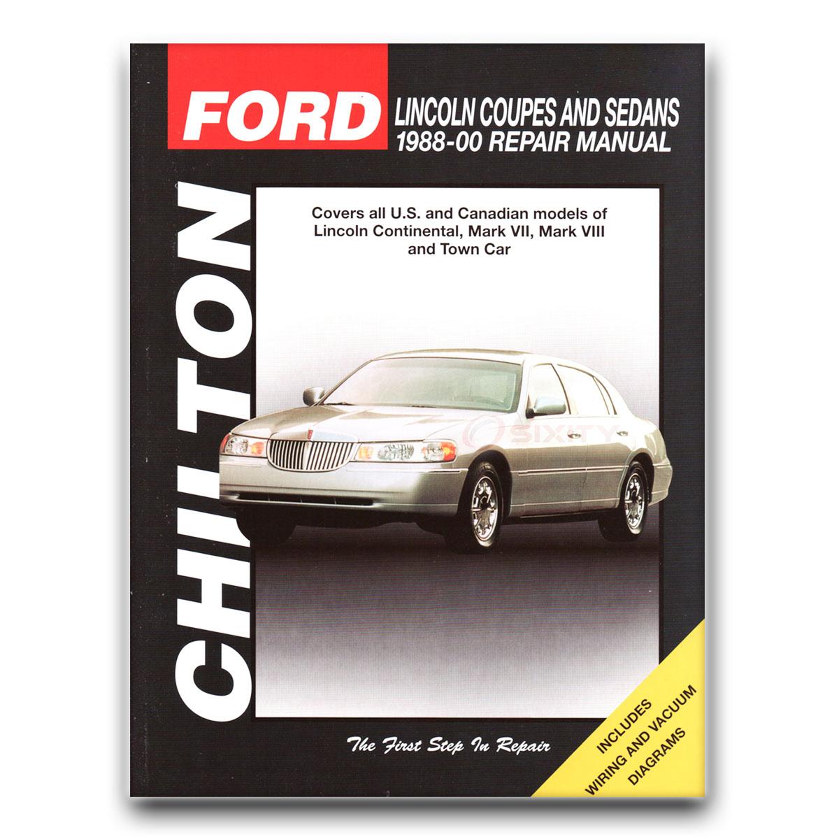 Lincoln Continental Chilton Repair Manual Spinnaker Edition Signature Base  bt