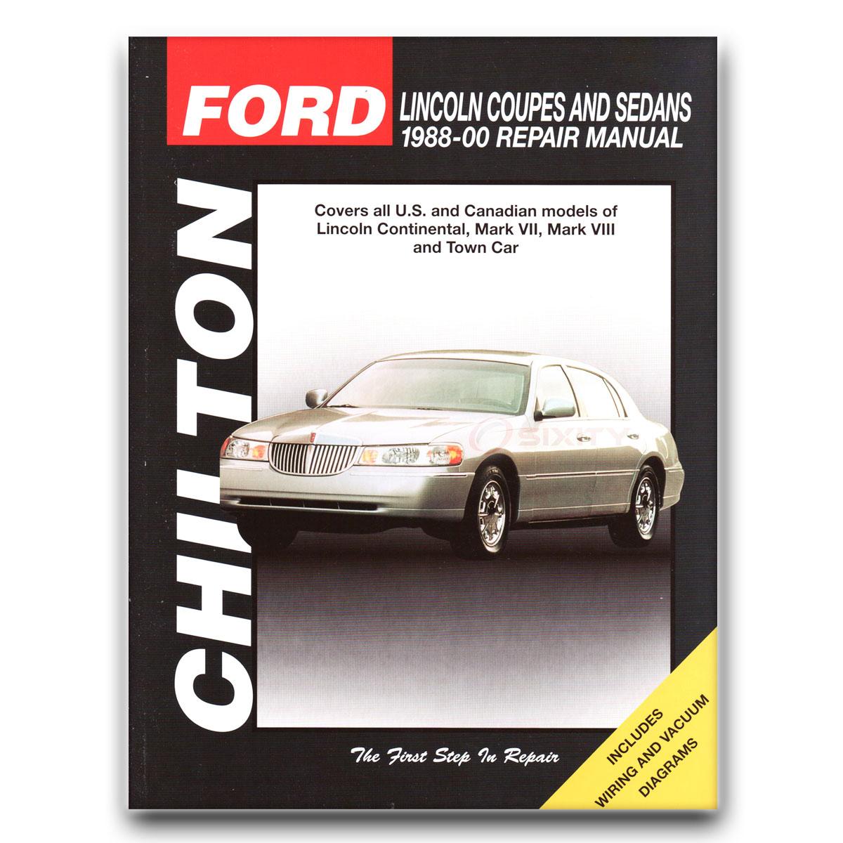Lincoln Town Car Chilton Repair Manual Anniversary Cypress