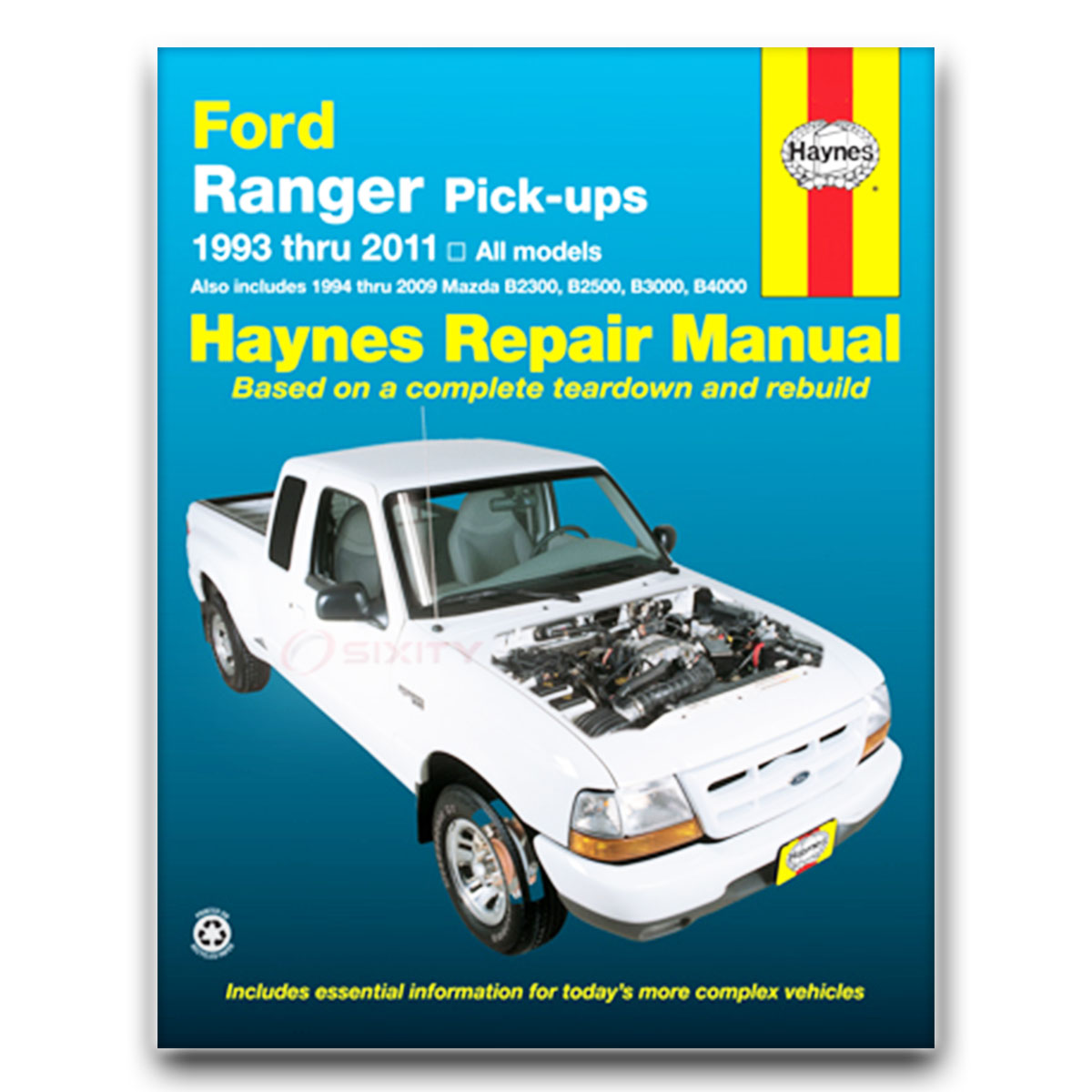 Haynes Repair Manual for Mazda B2500 SE SX Troy Lee Shop Service Garage Book  mm