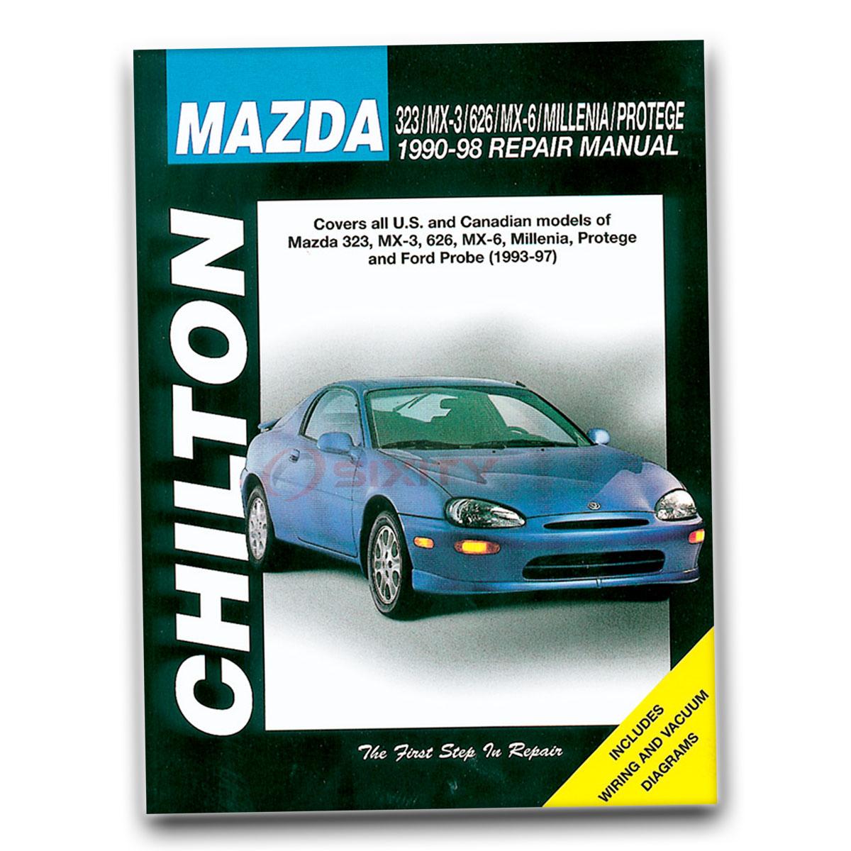 mazda 626 chilton repair manual lx gt le dx es shop service garage rh ebay com 2012 Mazda 3 2011 Mazda 3