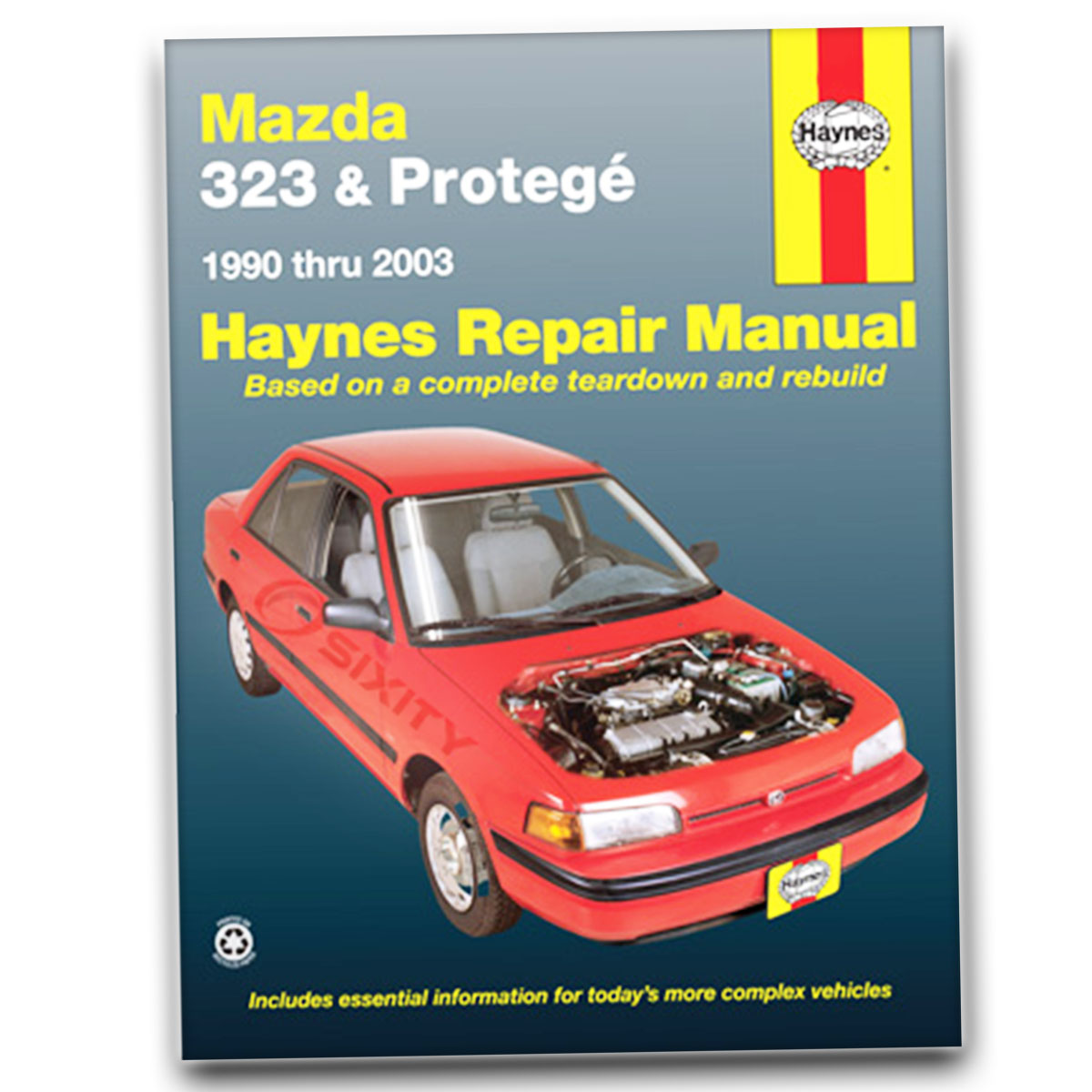 haynes repair manual for mazda protege 4wd base es mp3 dx mazdaspeed rh  ebay com 02 Mazda Protege Headlights 02 Mazda Protege Black