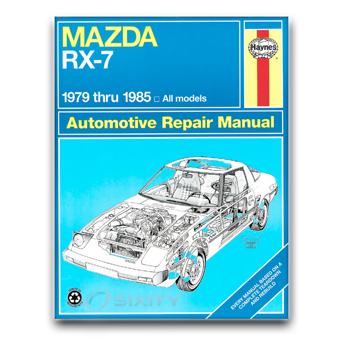 mazda rx 7 haynes repair manual gsl se limited edition shop service rh ebay com RX-7 Wallpaper RX-7 Wallpaper