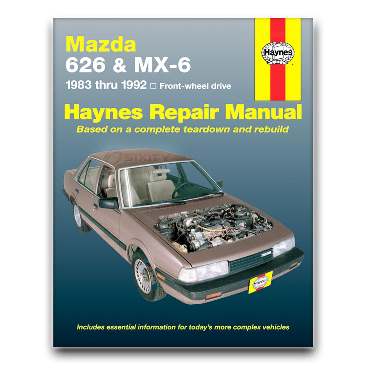 haynes repair manual for mazda 626 base lx dx gt turbo 4ws le shop rh ebay com 2000 Mazda 626 2000 Mazda 626