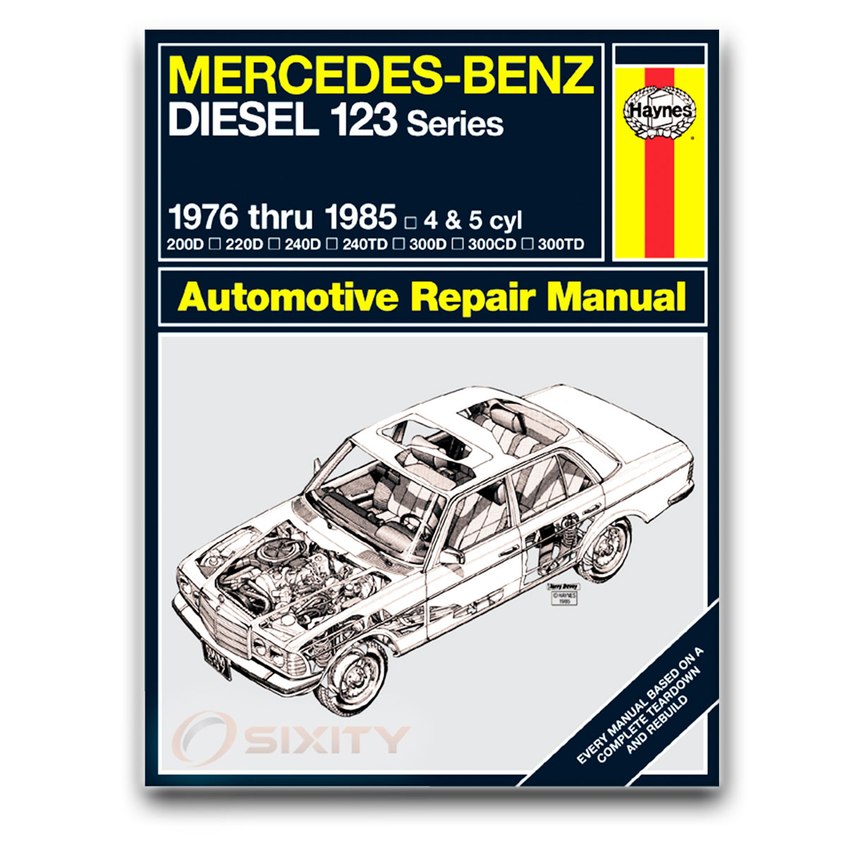 Haynes Repair Manual for Mercedes 300D Base Shop Service Garage Book ee