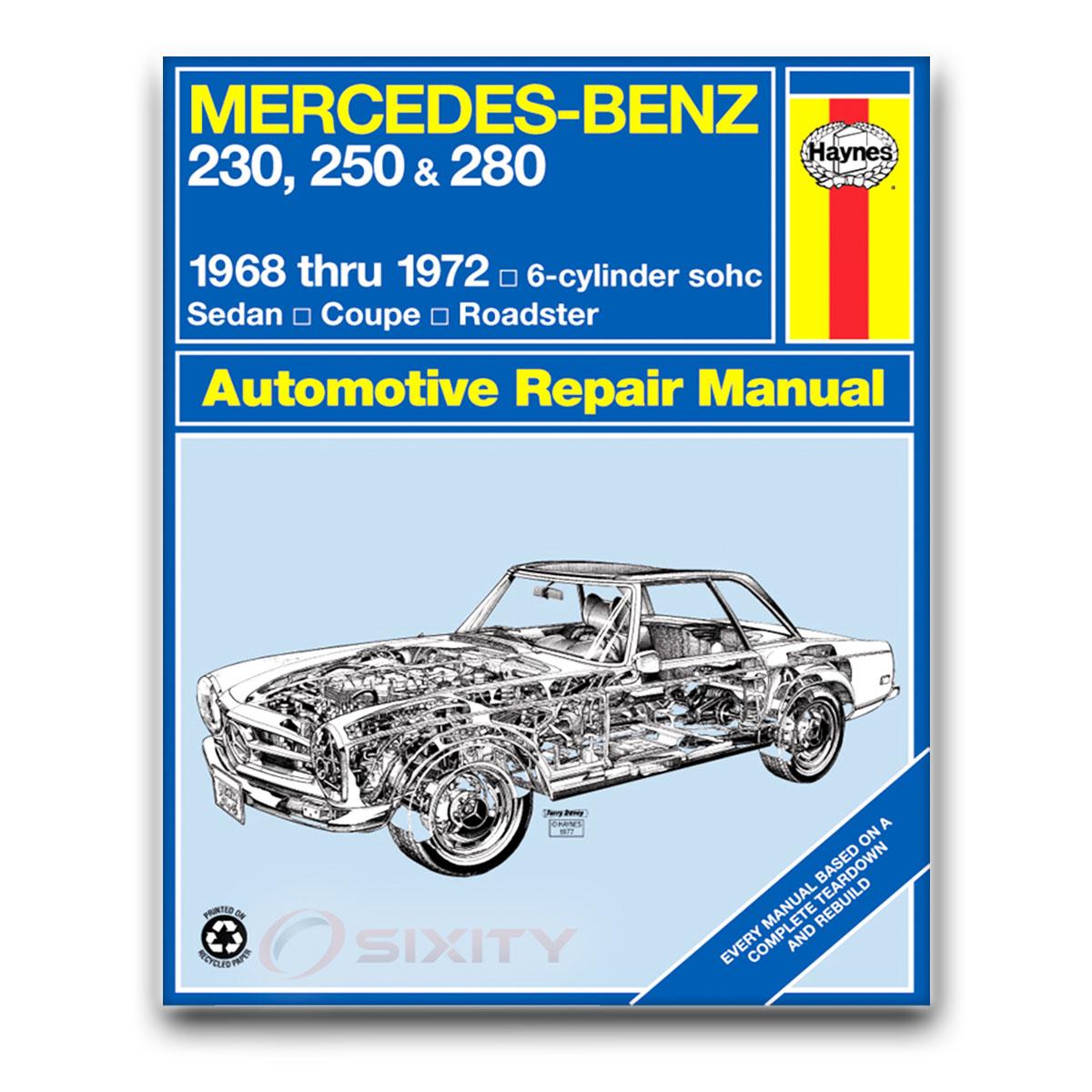 Mercedes Benz Repairs: Mercedes 280SL Haynes Repair Manual Base Shop Service