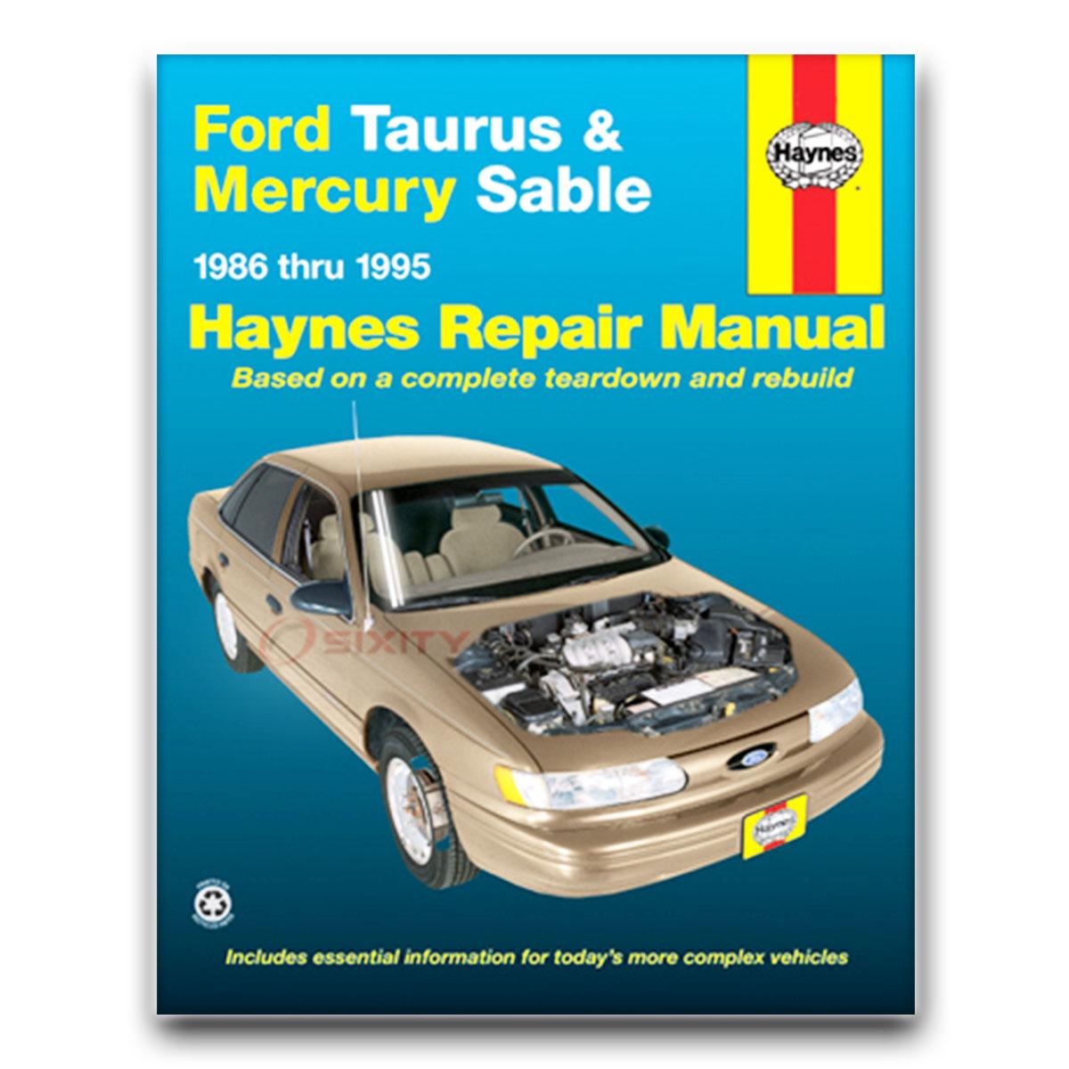 mercury sable haynes repair manual ls gs shop service garage book fm rh ebay com 1993 Ford Taurus Sho 2000 Ford Taurus Sho